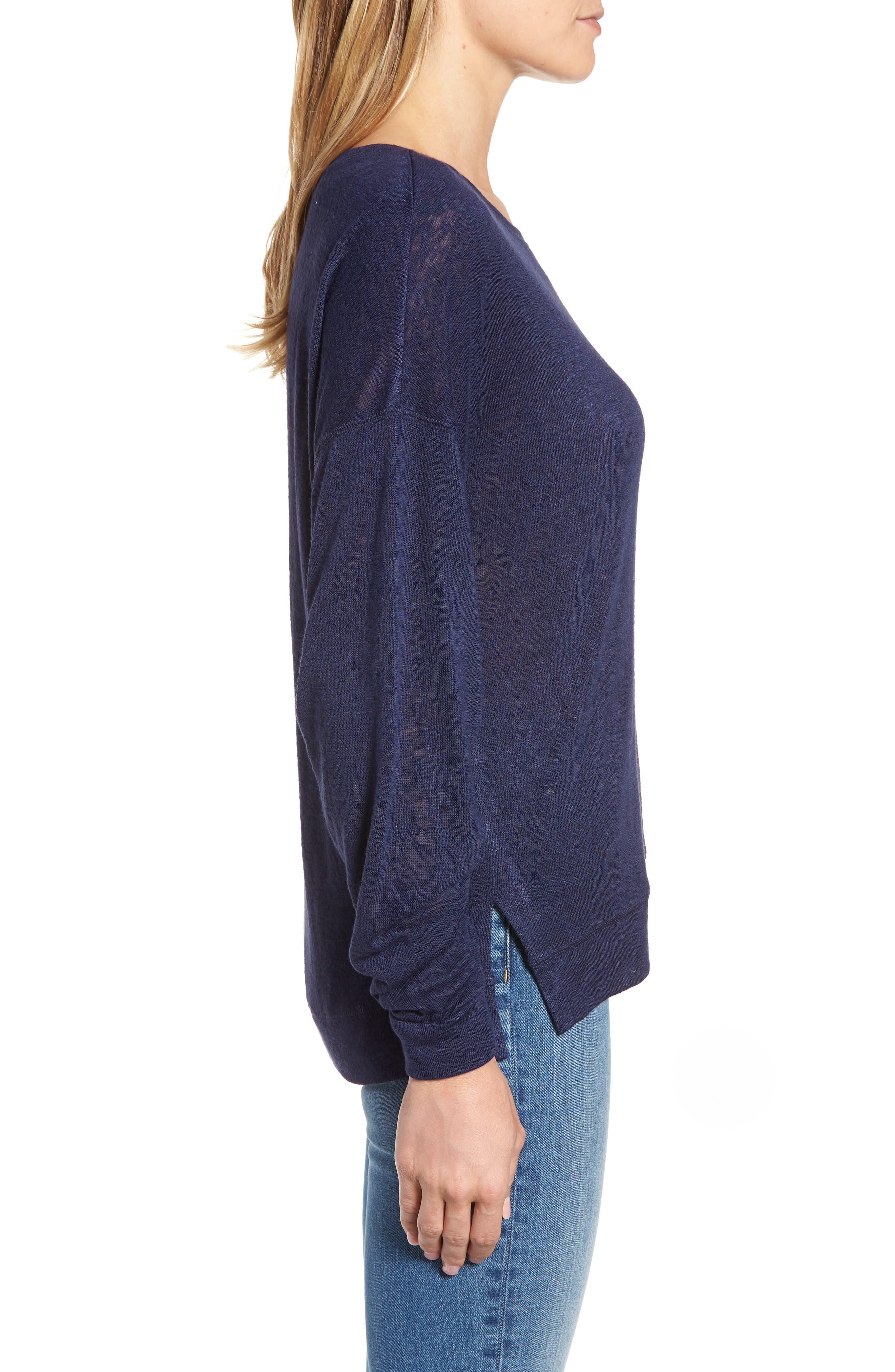 Tuck Sleeve Sweatshirt,                             Alternate thumbnail 17, color,