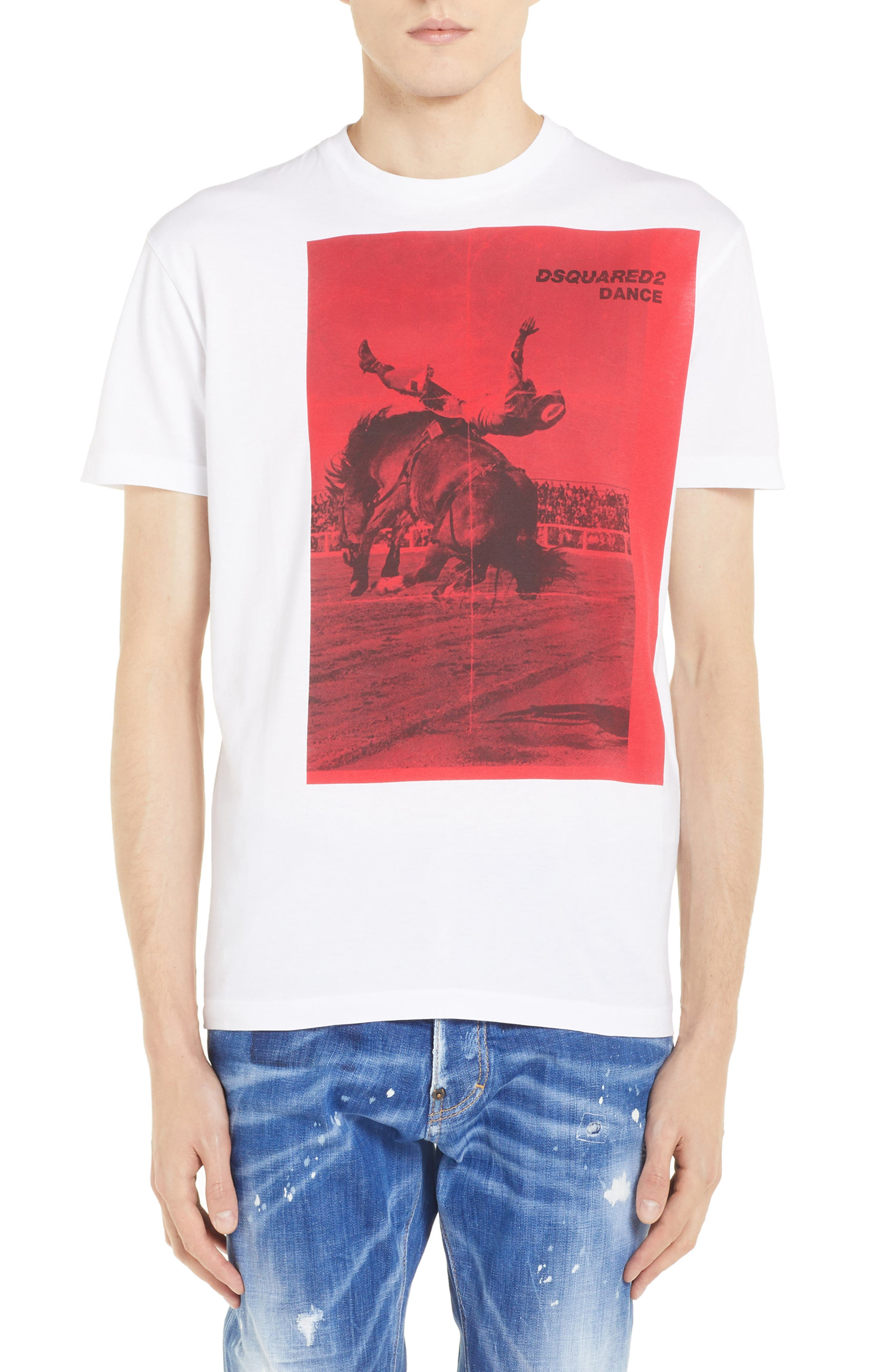 Rodeo Graphic T-Shirt,                         Main,                         color, WHITE