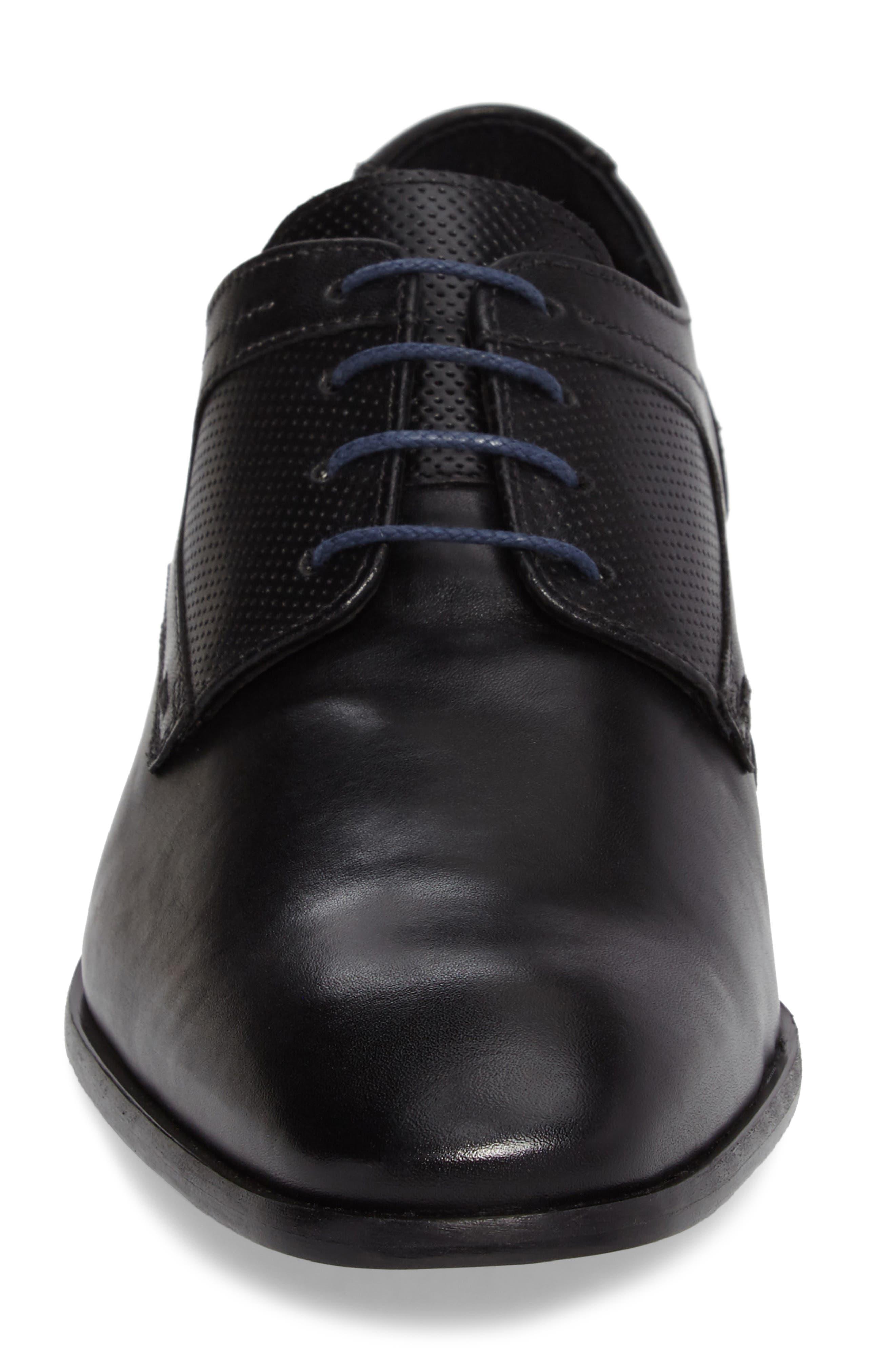 Finnegan Plain Toe Derby,                             Alternate thumbnail 4, color,                             001