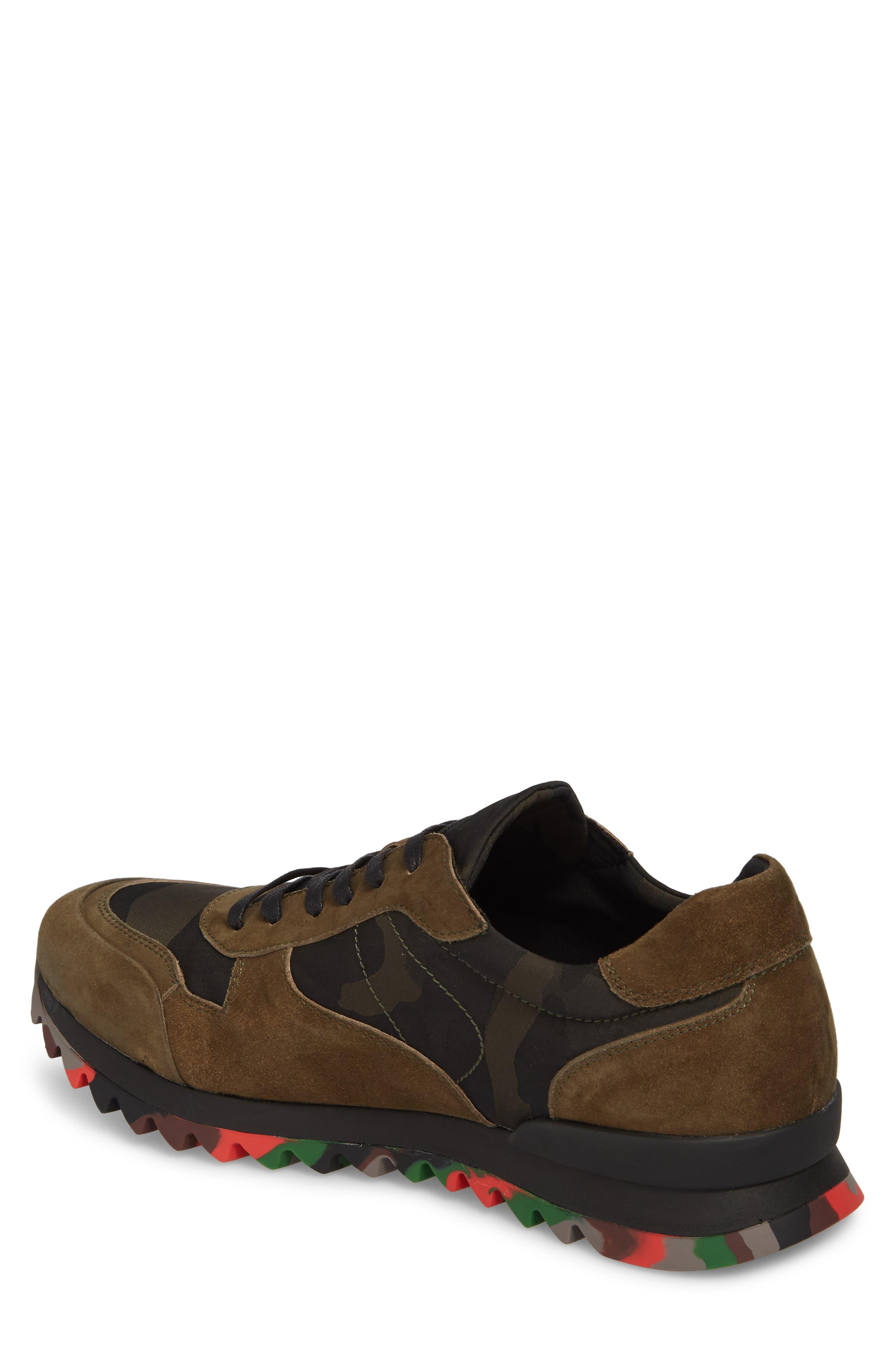 Camo Print Sneaker,                             Alternate thumbnail 2, color,                             OLIVE