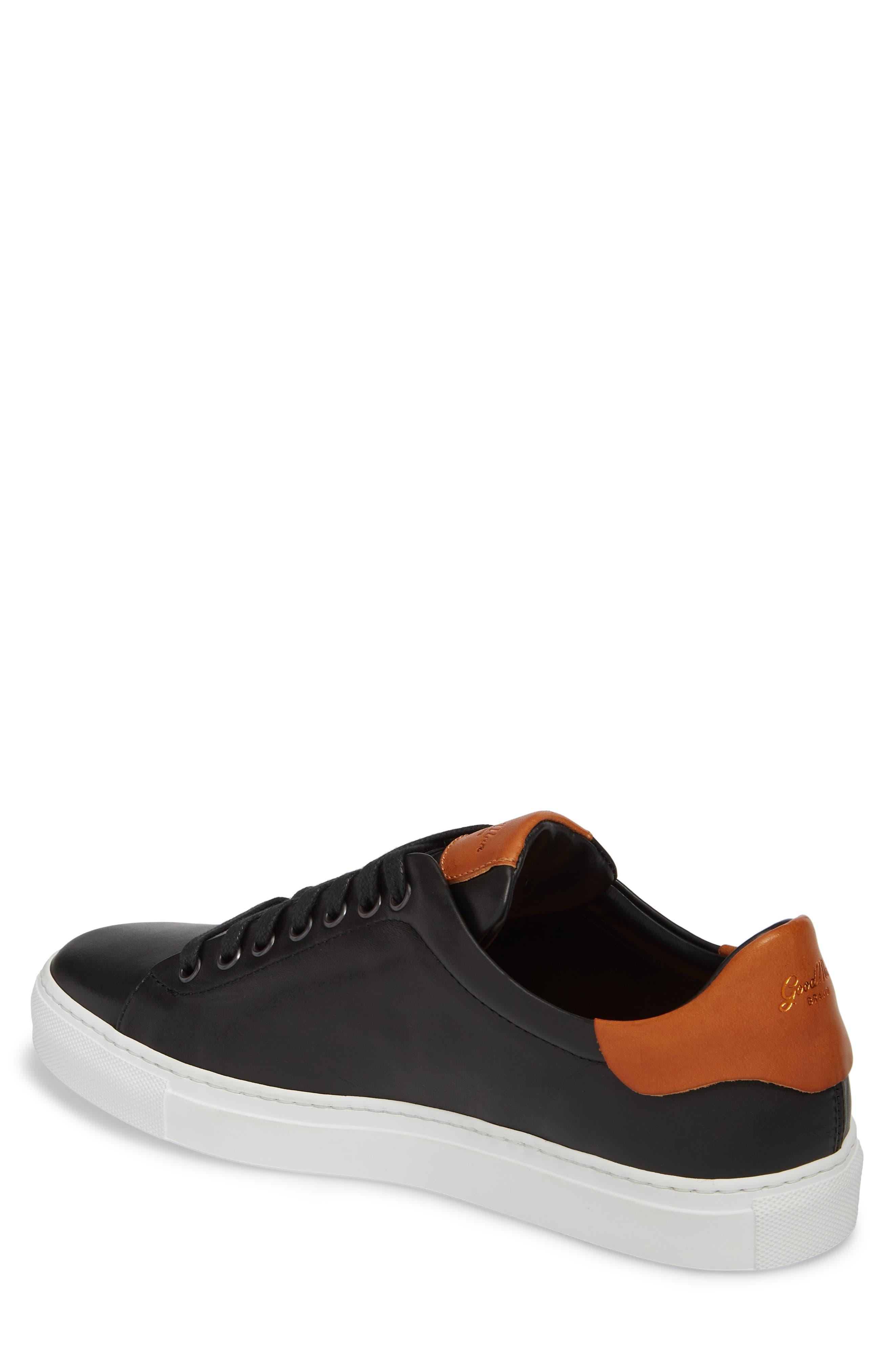 Legend Low Top Sneaker,                             Alternate thumbnail 2, color,                             BLACK/ VACHETTA LEATHER