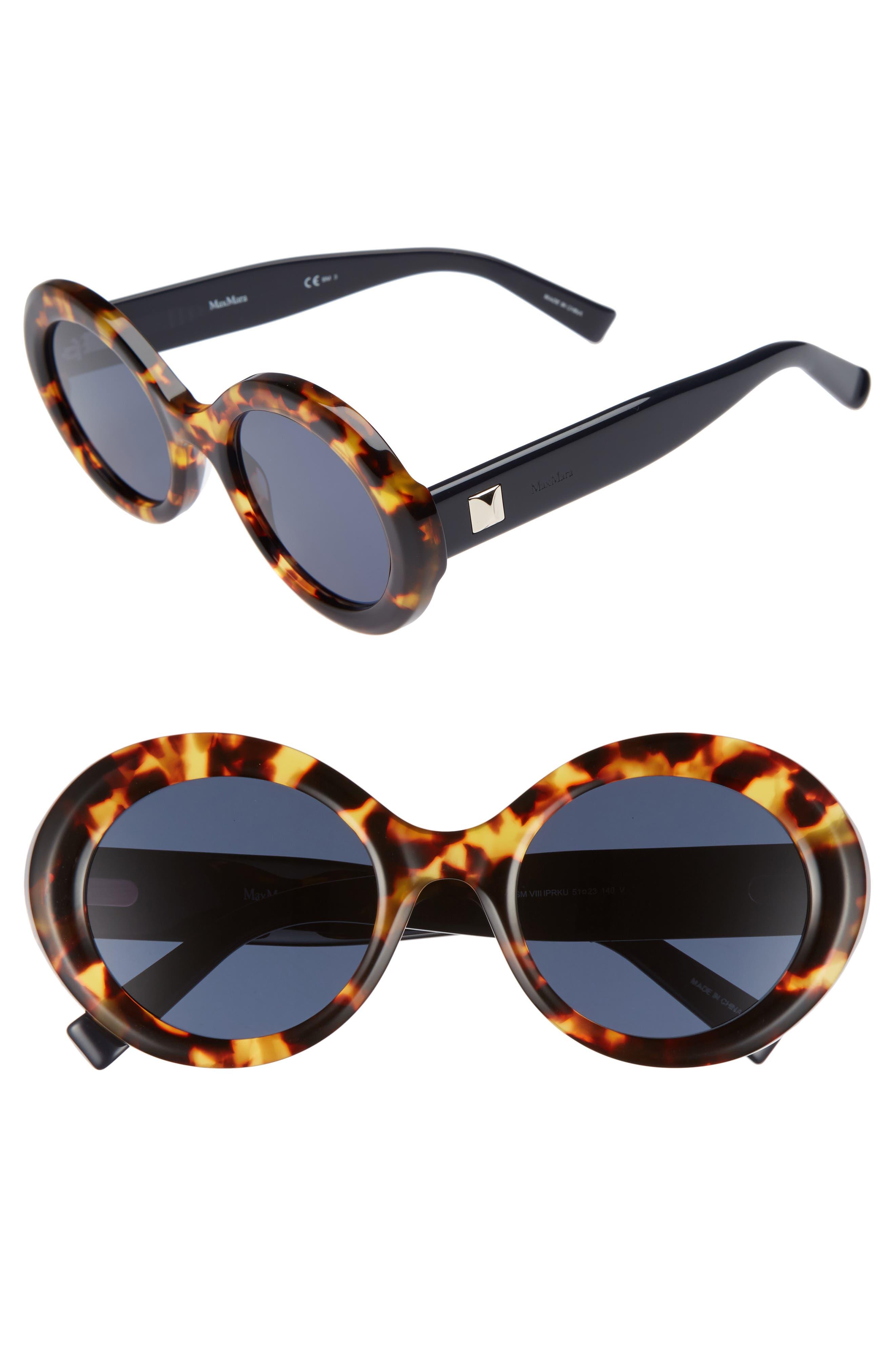 Prism VIII 51mm Oval Sunglasses,                             Main thumbnail 1, color,                             HAVANA BLUE