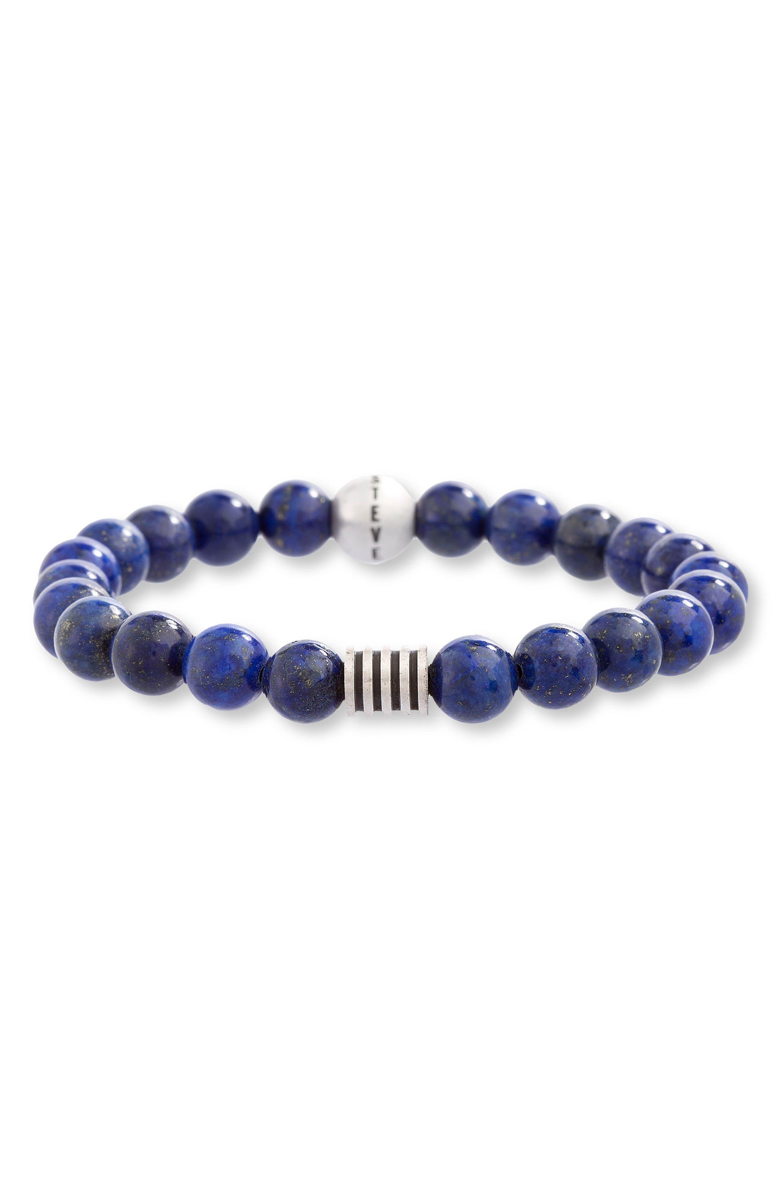 Lapis Lazuli Bead Bracelet,                         Main,                         color, 400
