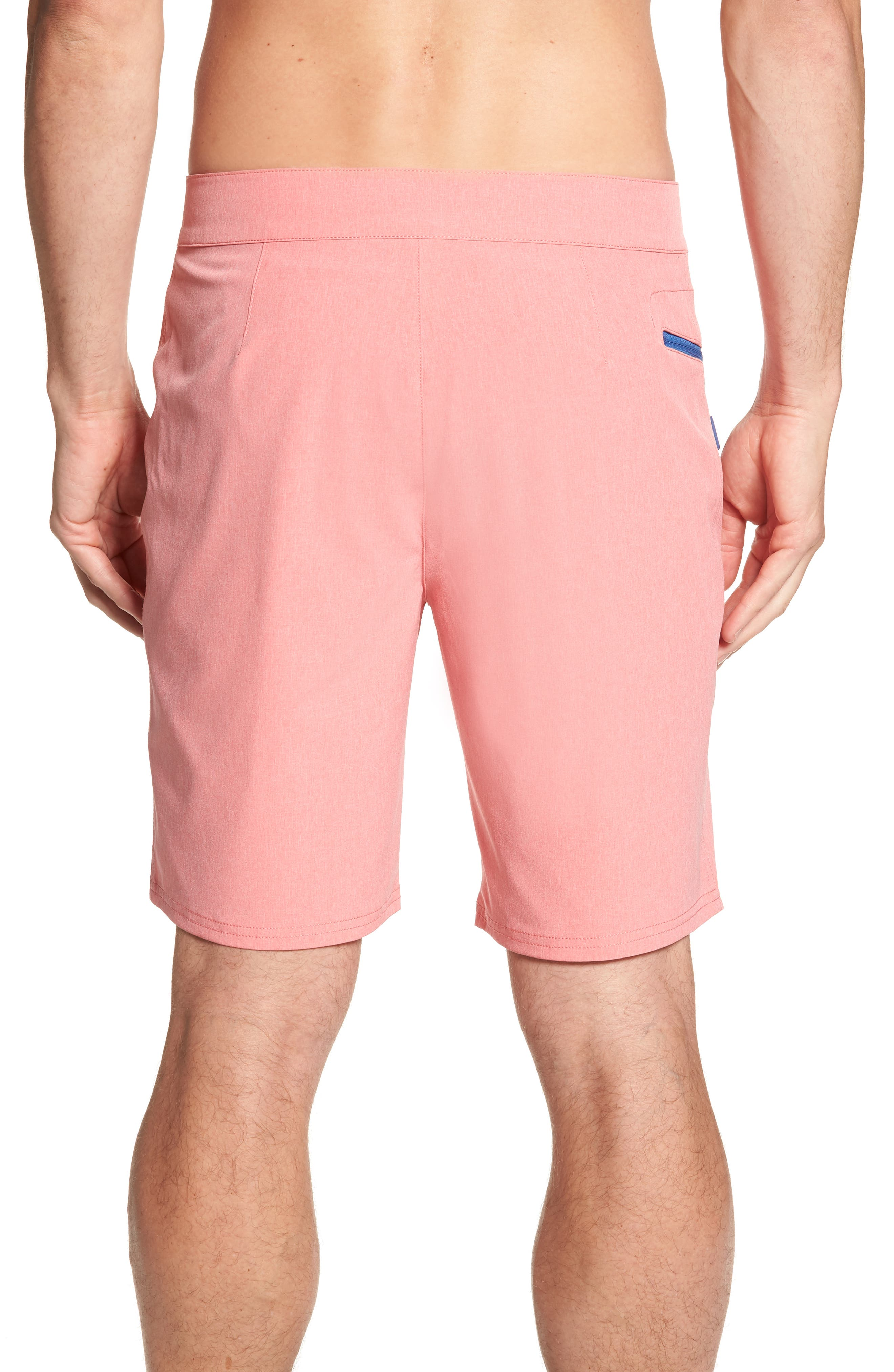 Heather Stretch Board Shorts,                             Alternate thumbnail 2, color,                             LOBSTER REEF