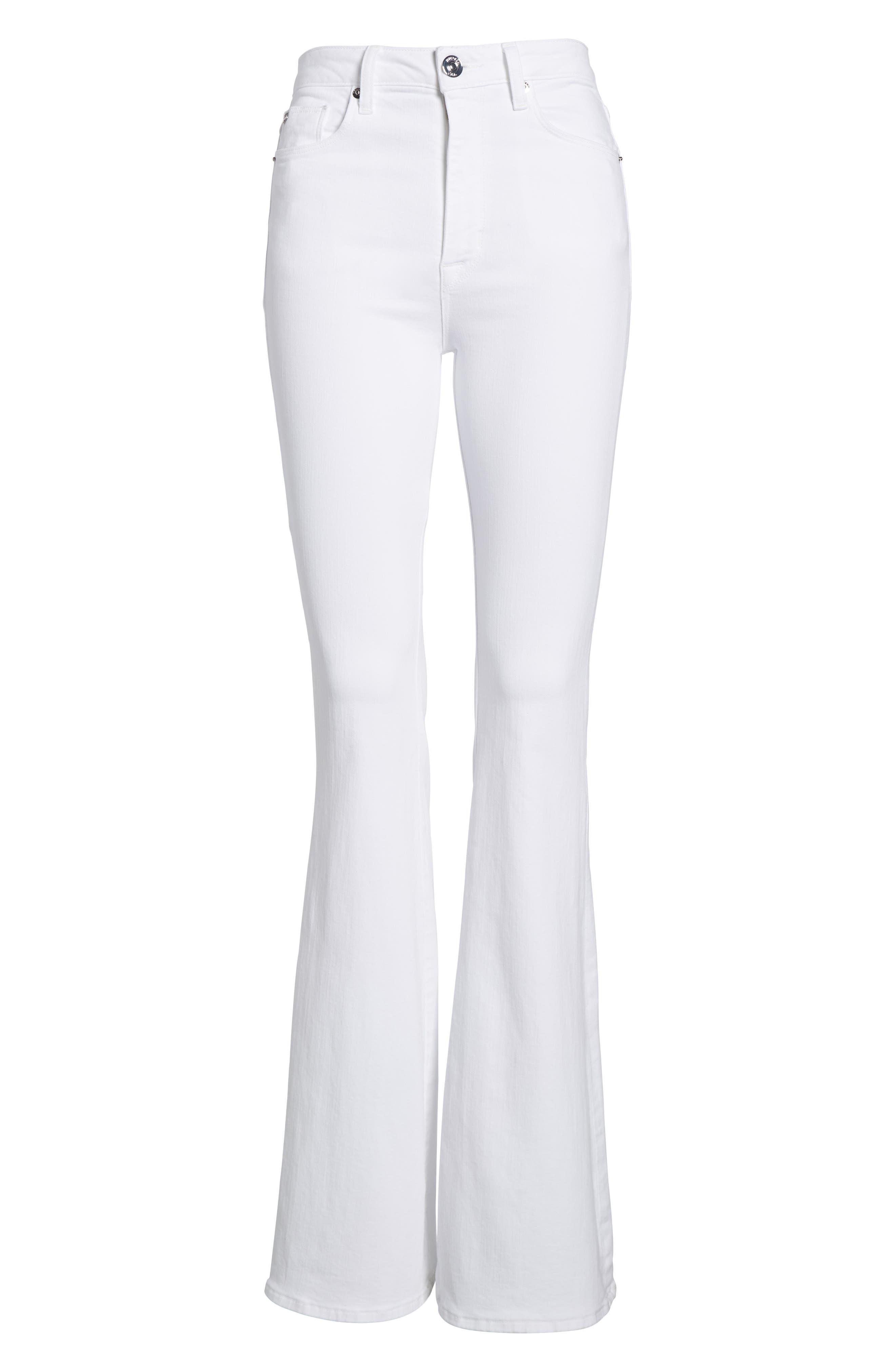 Holly High Waist Flare Jeans,                             Alternate thumbnail 7, color,                             110