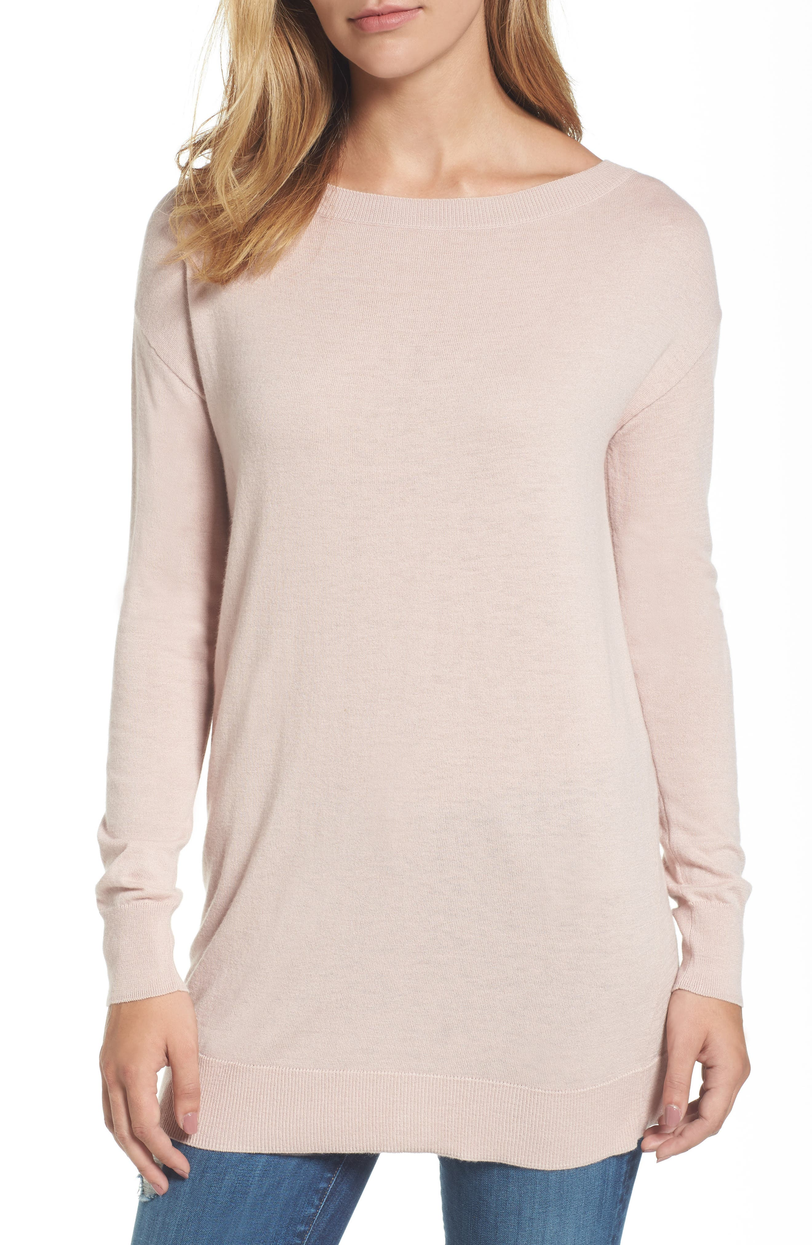 Boatneck Tunic Sweater,                             Main thumbnail 10, color,