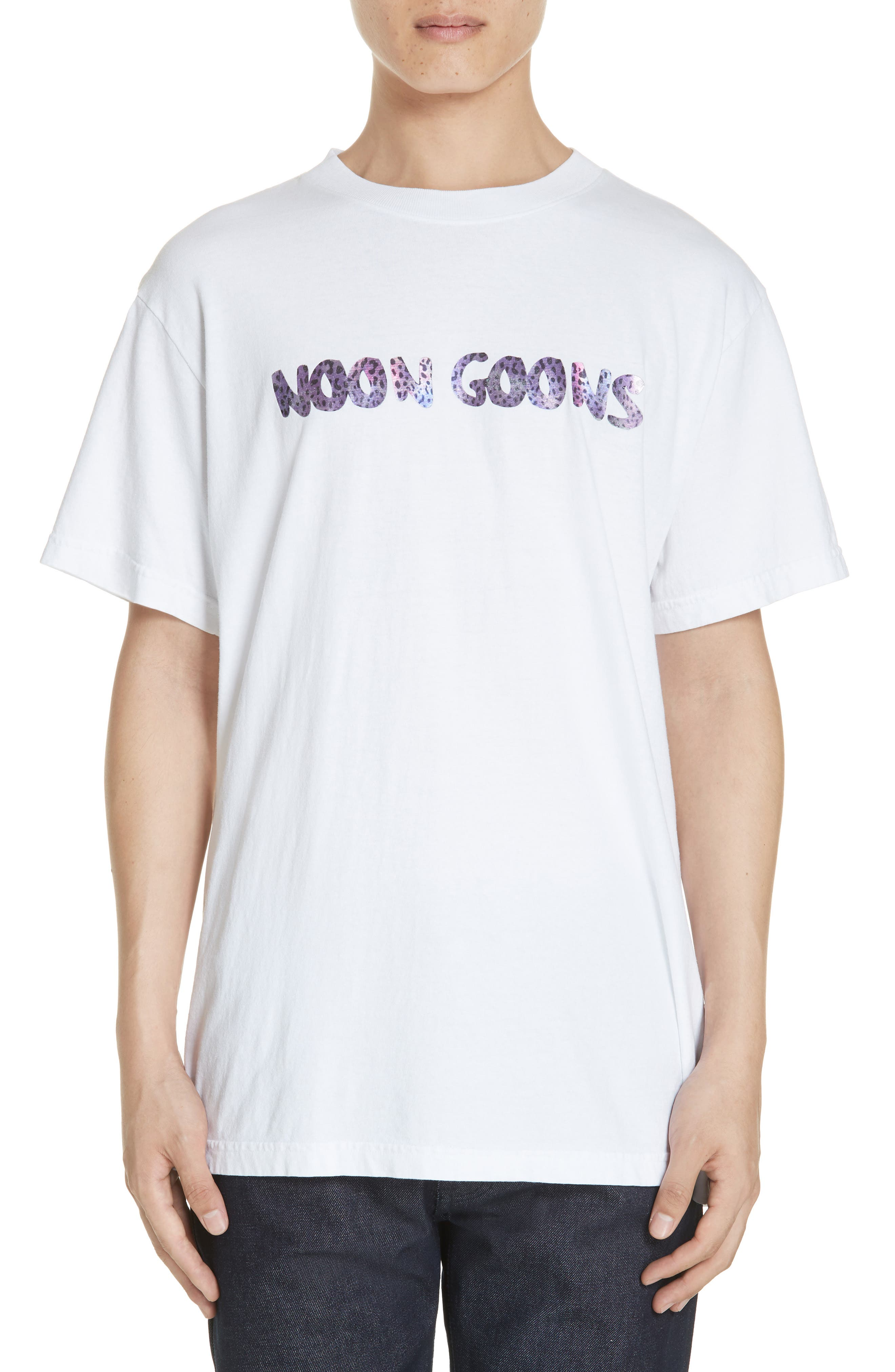 NOON GOONS Leopard Logo T-Shirt in White