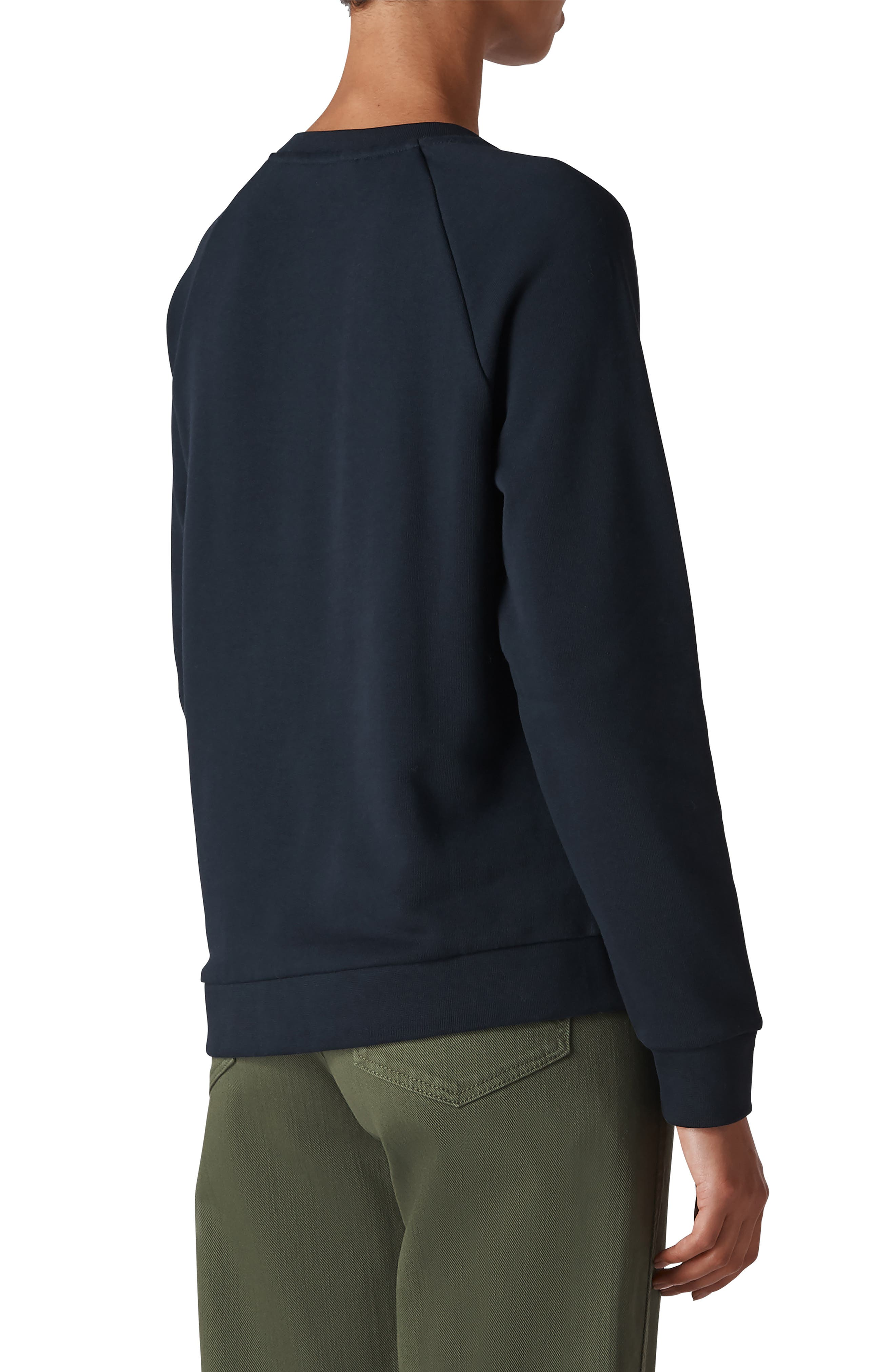 Floral Embroidered Sweatshirt,                             Alternate thumbnail 2, color,                             410