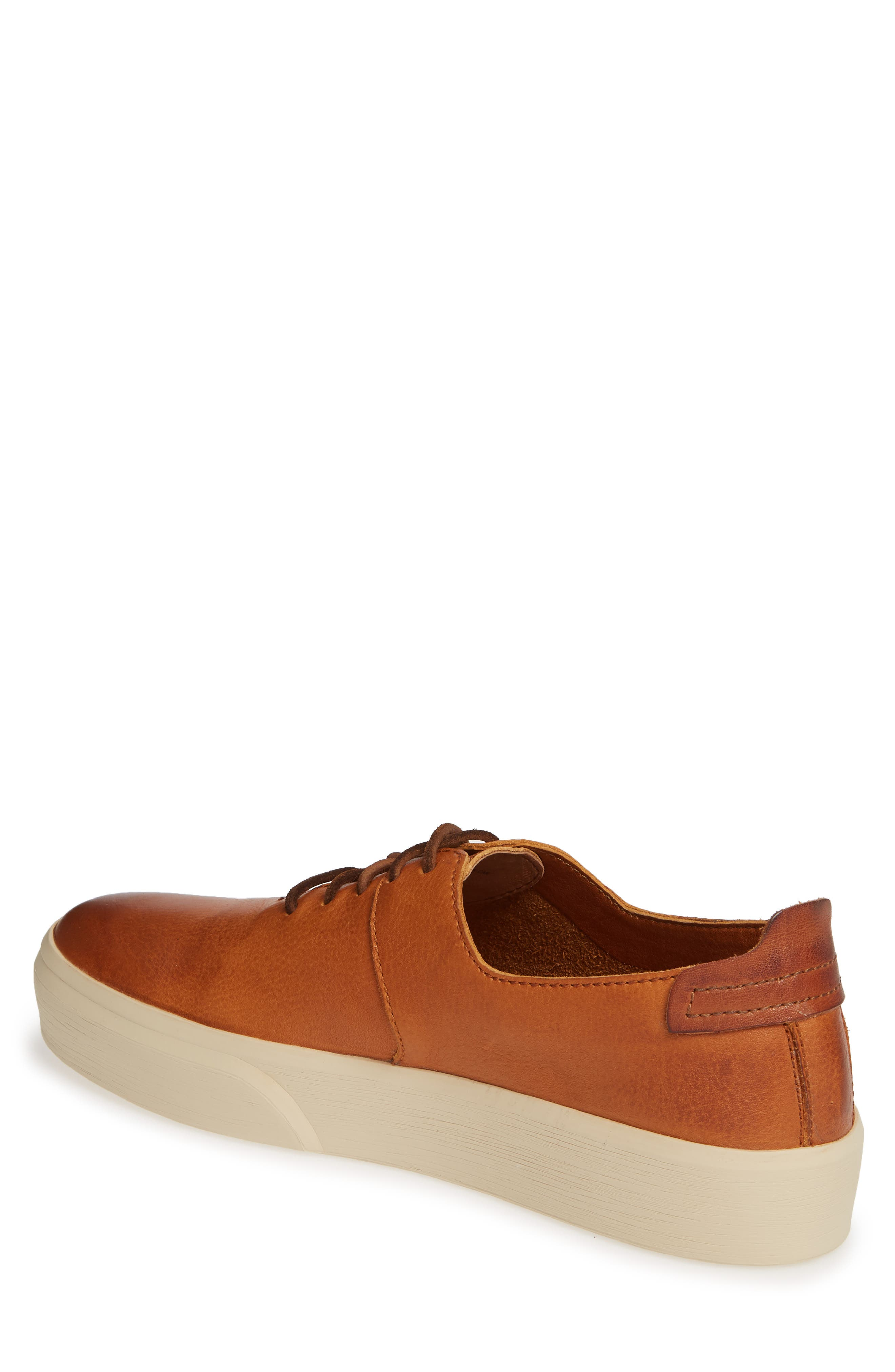 FRYE,                             Beacon Sneaker,                             Alternate thumbnail 2, color,                             CARAMEL LEATHER