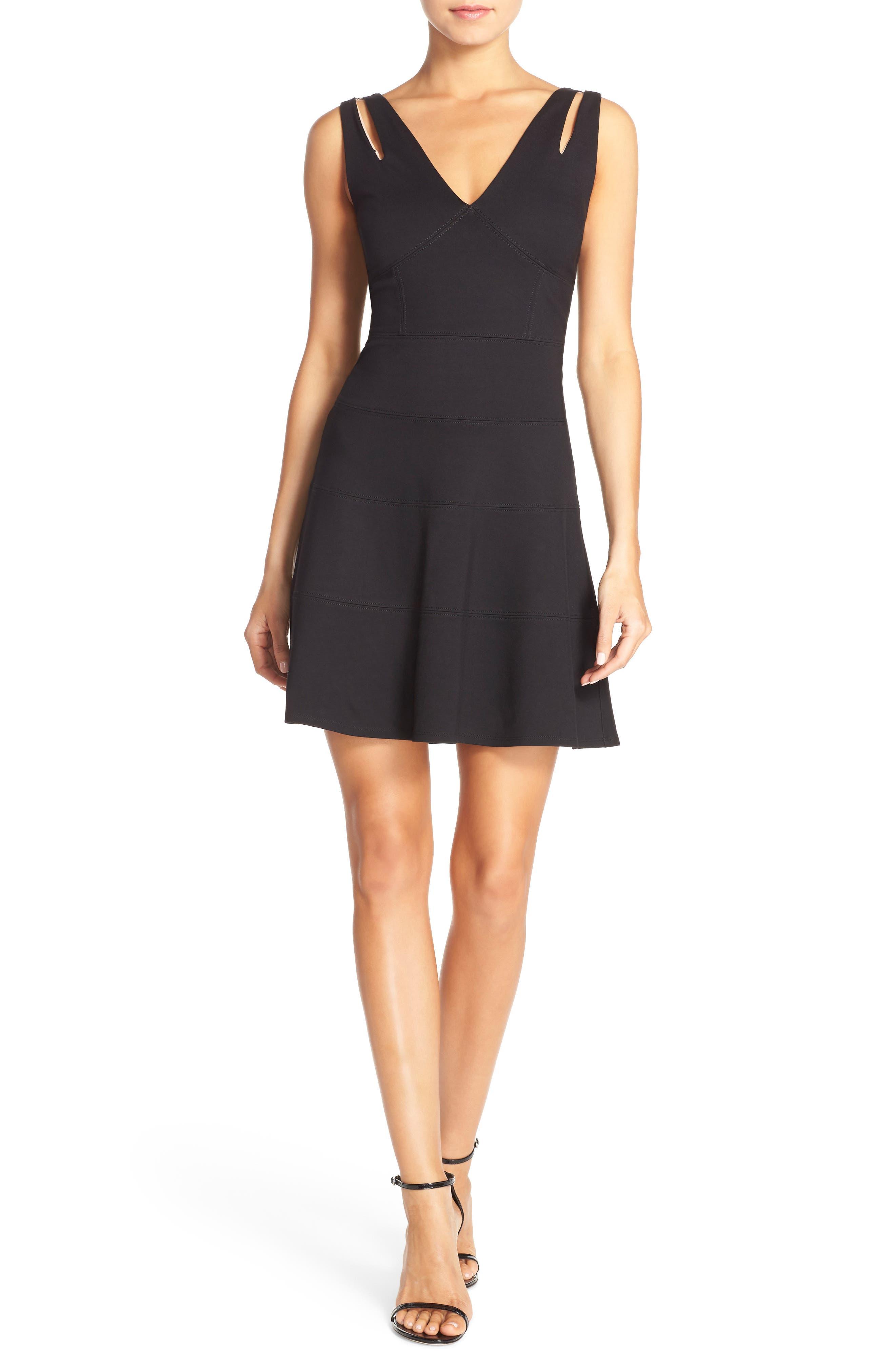 Te Quiero Fit & Flare Dress,                         Main,                         color, 001