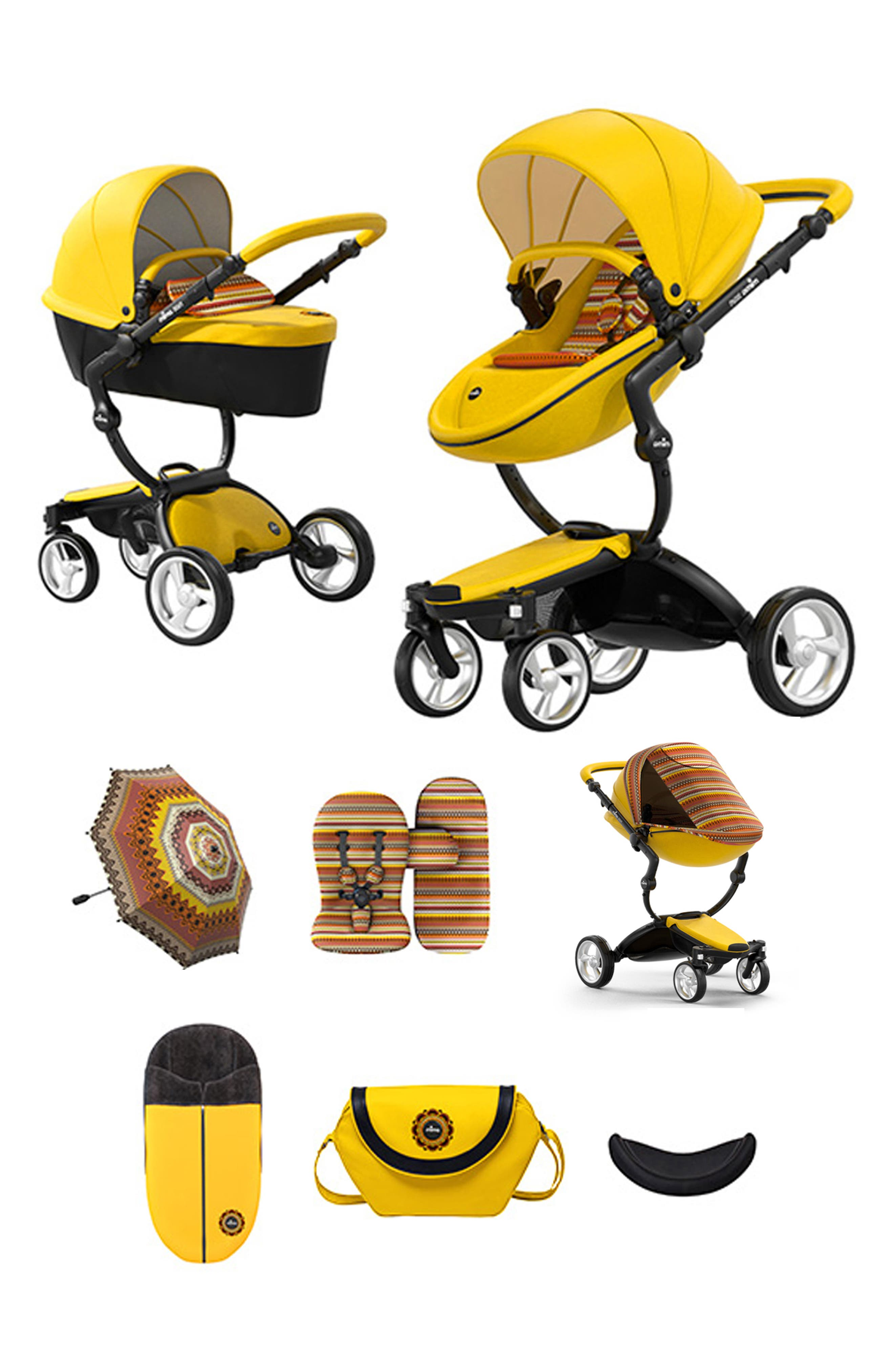 Xari Special Edition Chassis Stroller with Seat, Carrycot & Accessories,                             Alternate thumbnail 3, color,                             SPECIAL EDITION YELLOW