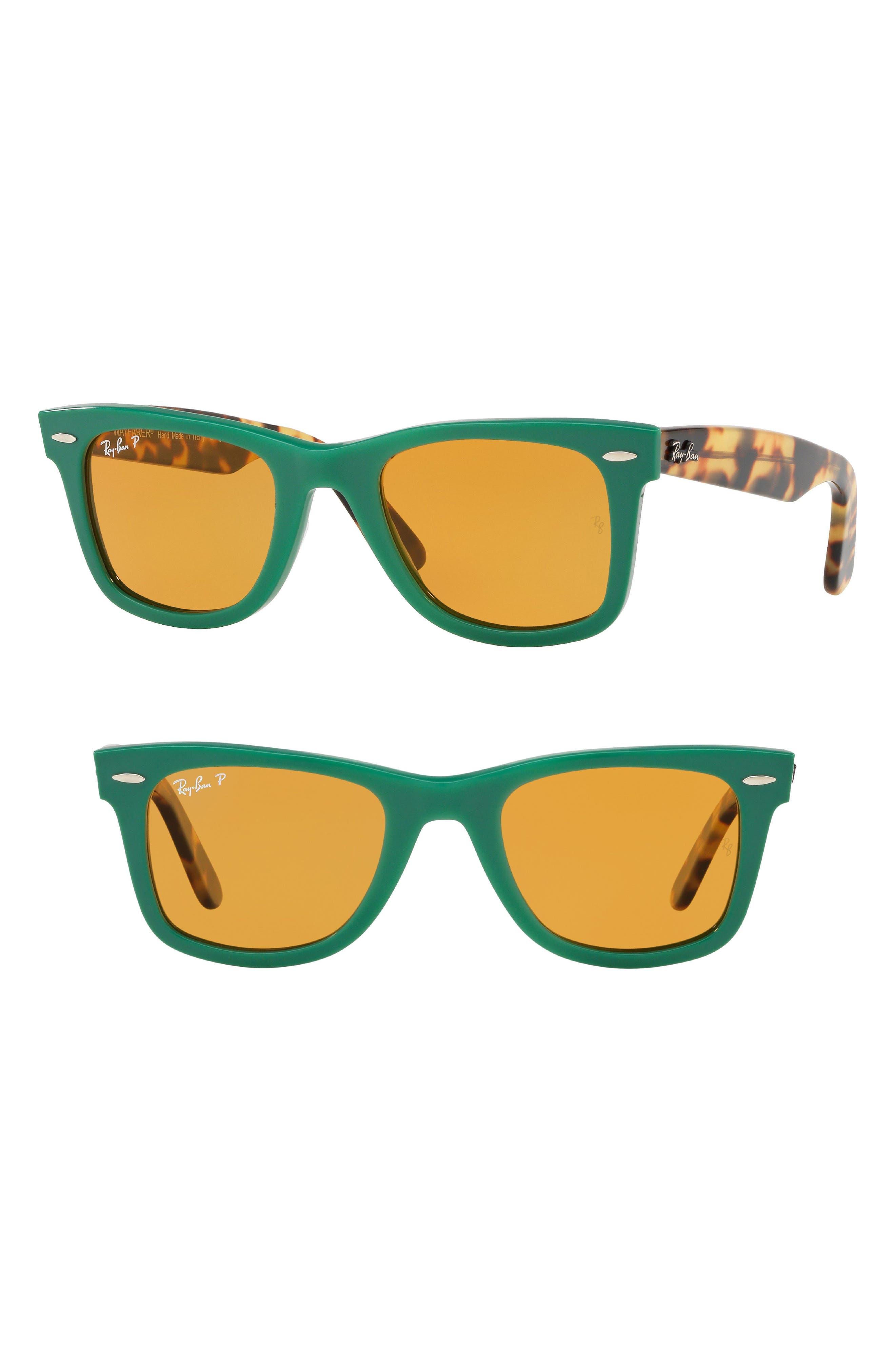 Standard Classic Wayfarer 50mm Polarized Sunglasses,                             Main thumbnail 1, color,                             GREEN