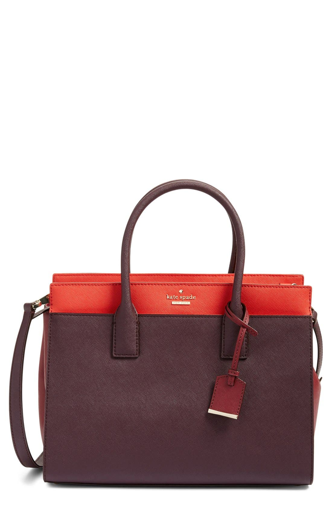 cameron street - candace leather satchel,                             Main thumbnail 11, color,