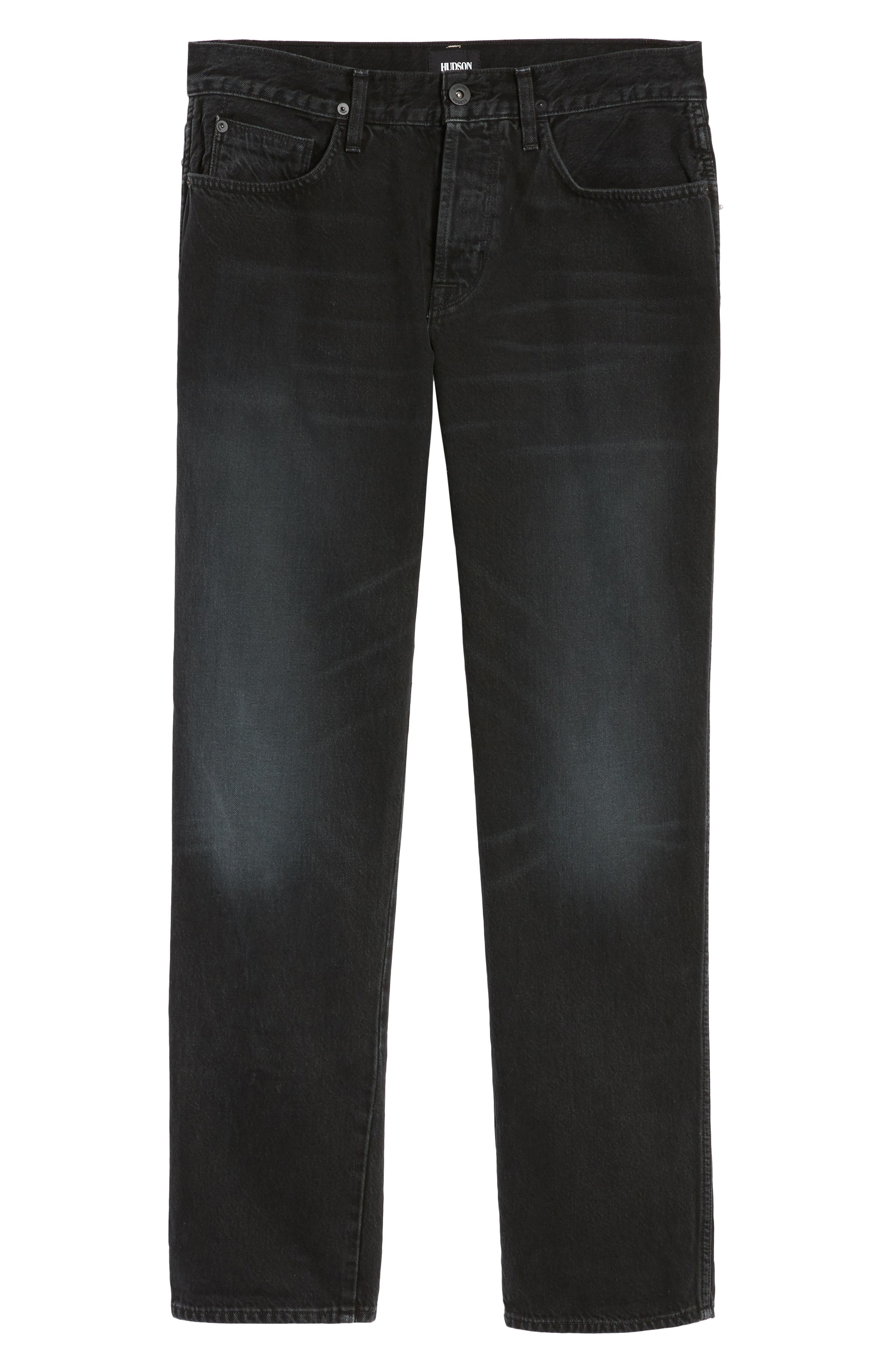 Dixon Straight Fit Jeans,                             Alternate thumbnail 6, color,                             001