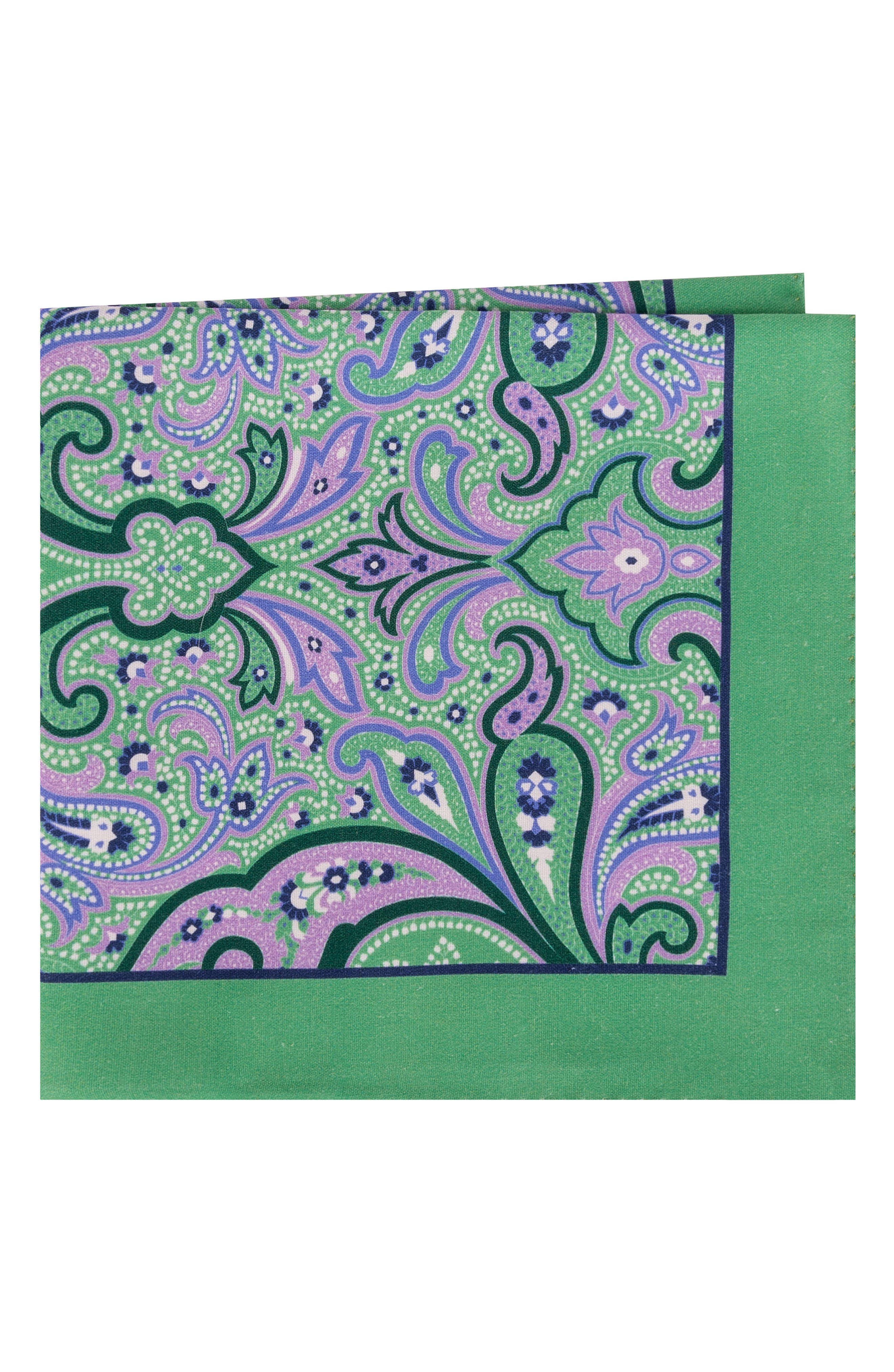 Royal Paisley Silk Pocket Square,                             Main thumbnail 1, color,                             327