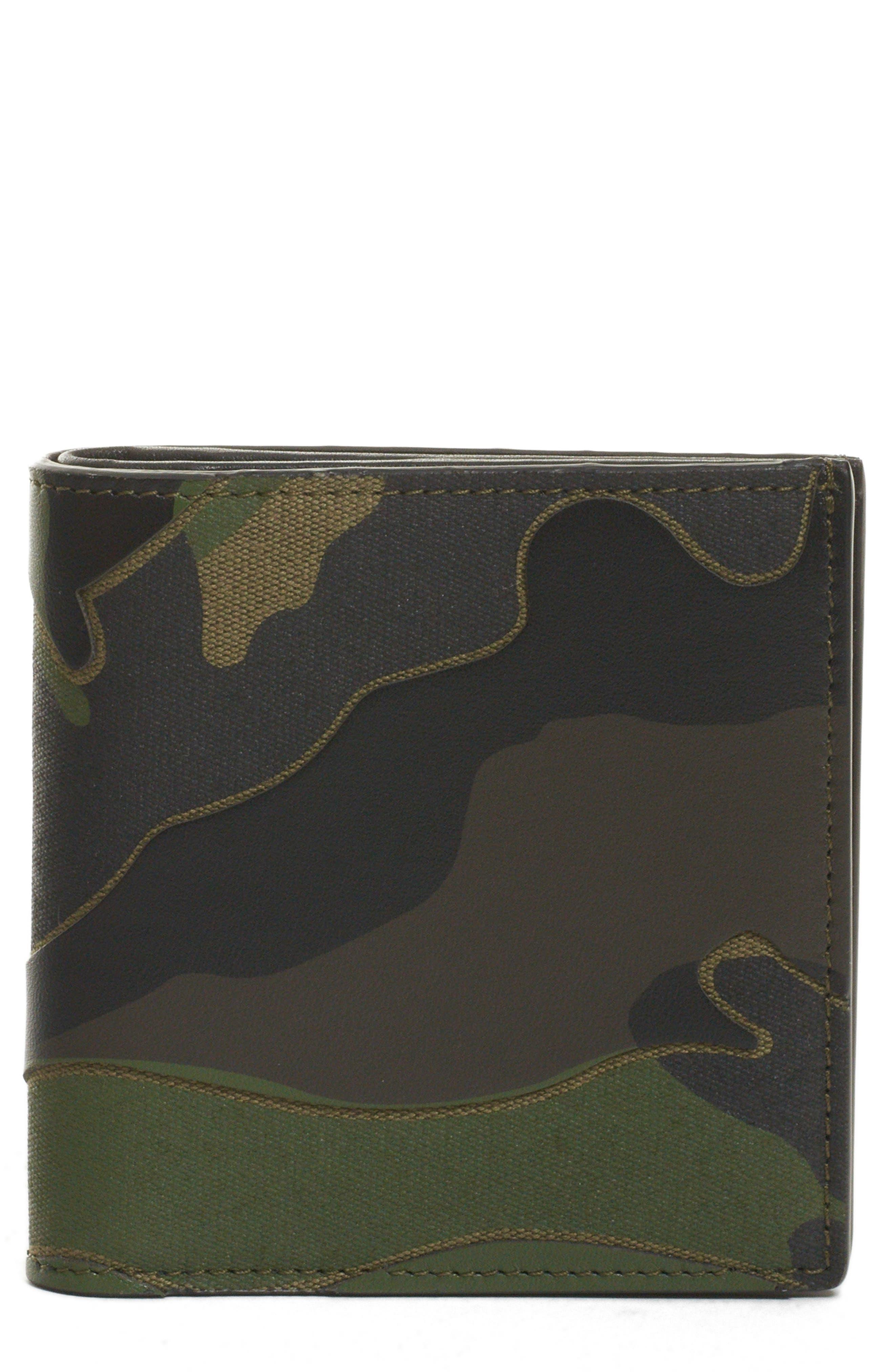 GARAVANI Camo Wallet, Main, color, CAMO ARMY