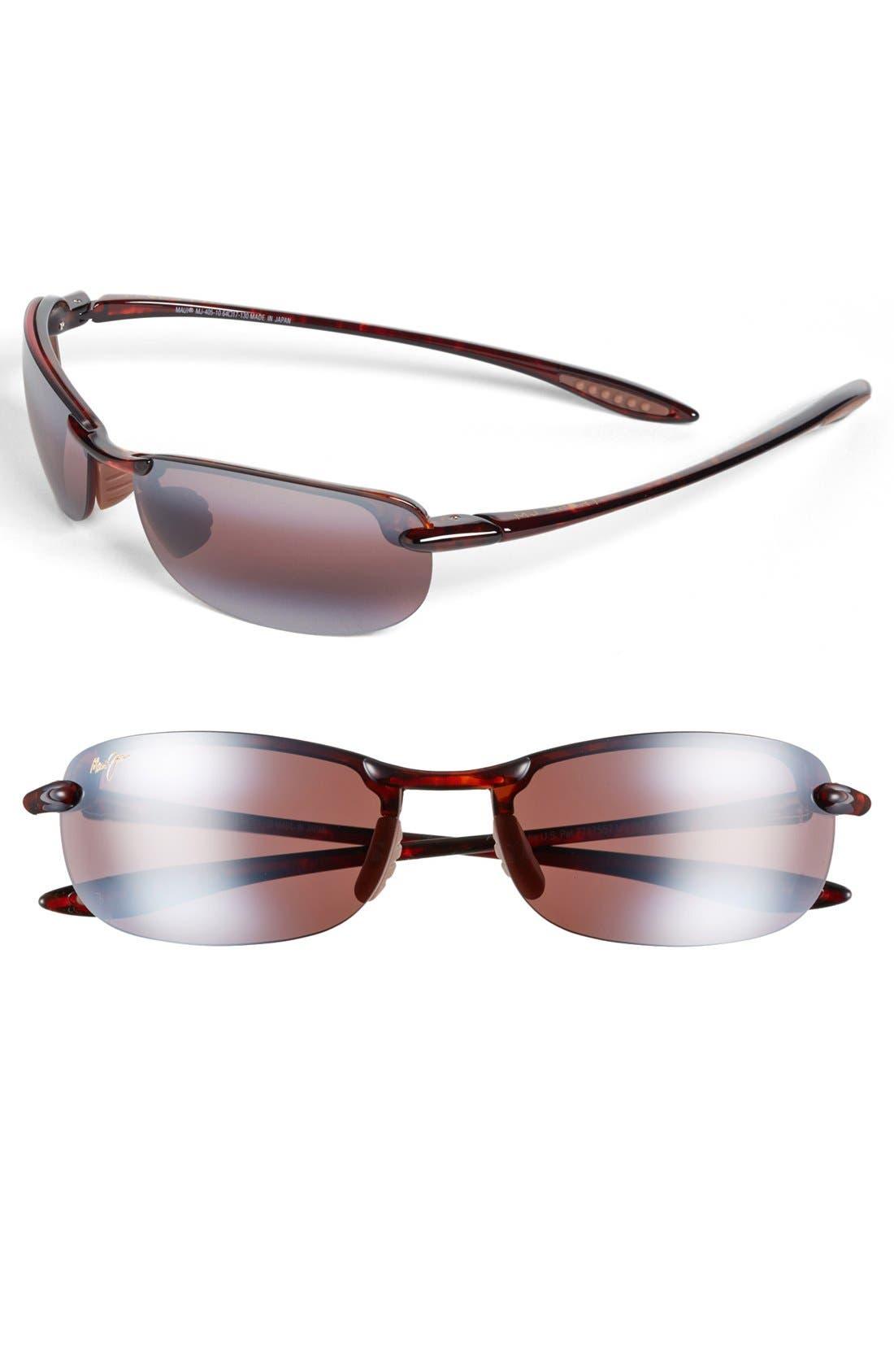 'Makaha - PolarizedPlus<sup>®</sup>2' 63mm Sunglasses,                         Main,                         color, TORTOISE/ ROSE