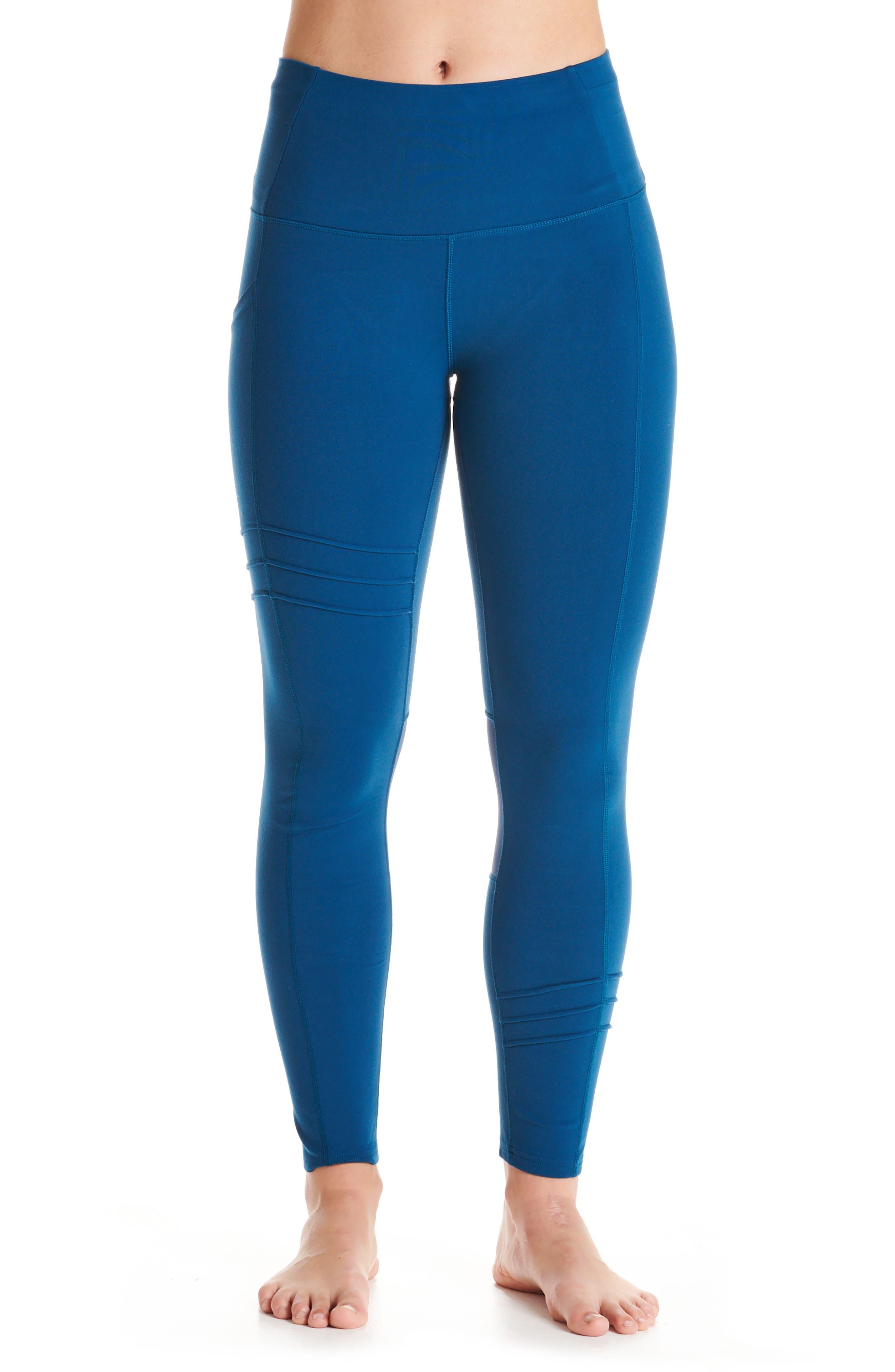 Oiselle Pocket Jogger Capri Leggings, Blue
