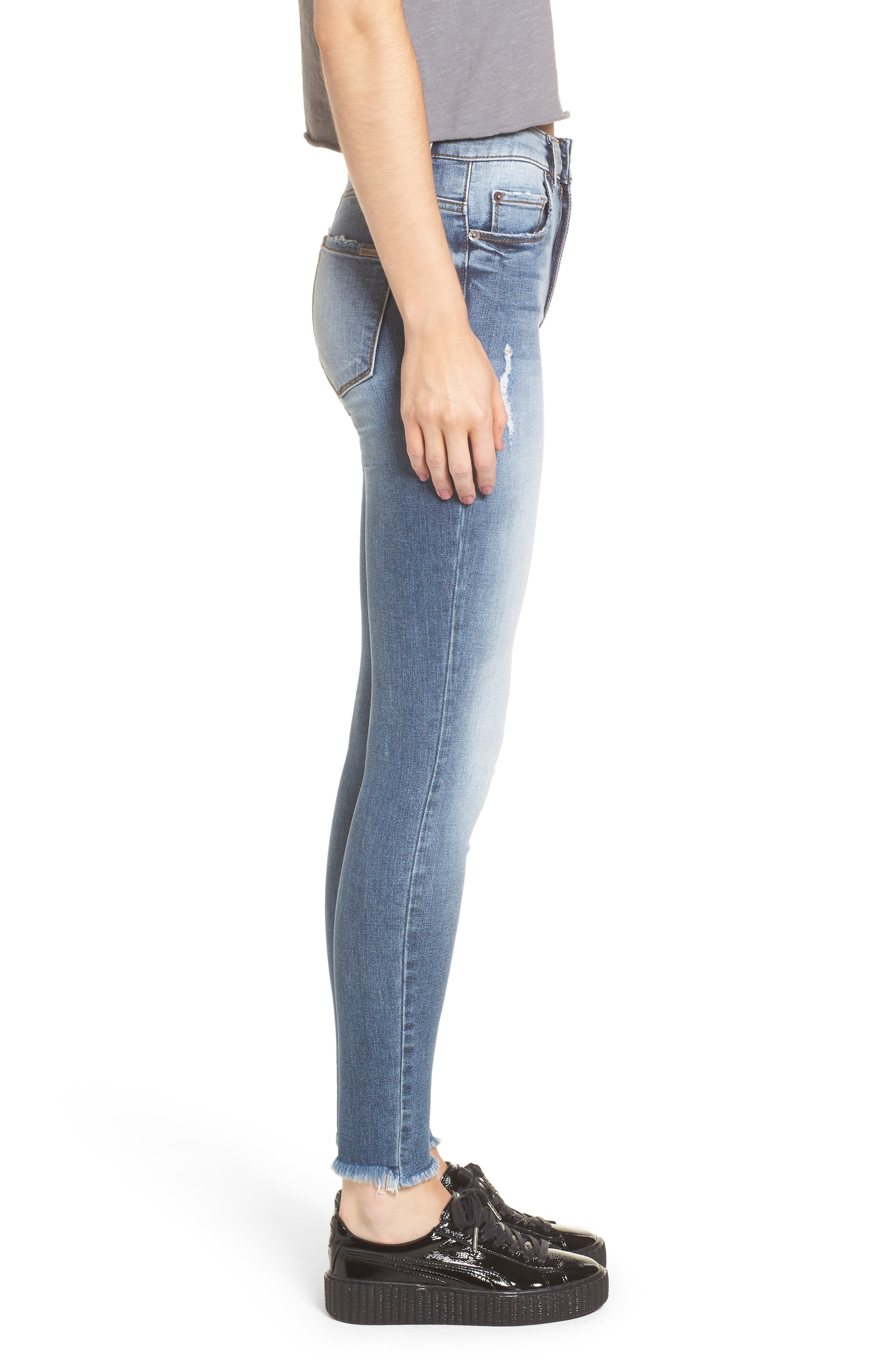 Emma Distressed Skinny Jeans,                             Alternate thumbnail 3, color,                             400