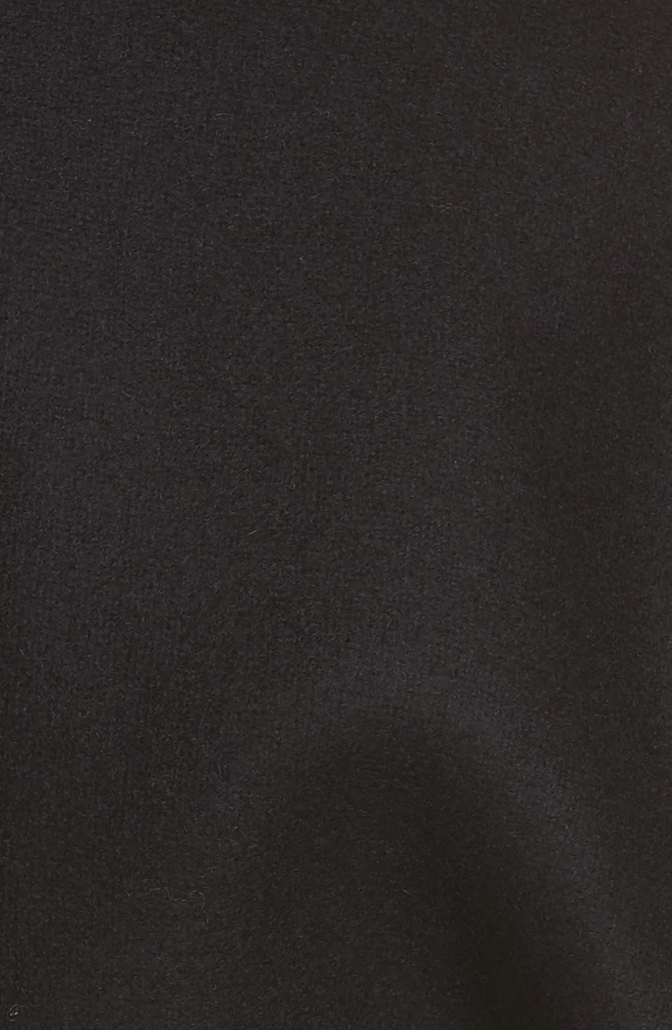Le Manteau Aissa Belted Wool Blend Coat,                             Alternate thumbnail 6, color,                             001