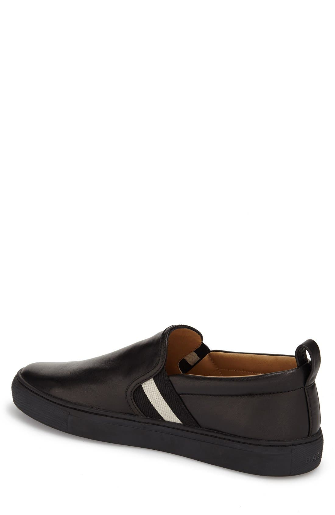 'Herald' Slip-On,                             Alternate thumbnail 2, color,                             BLACK LEATHER