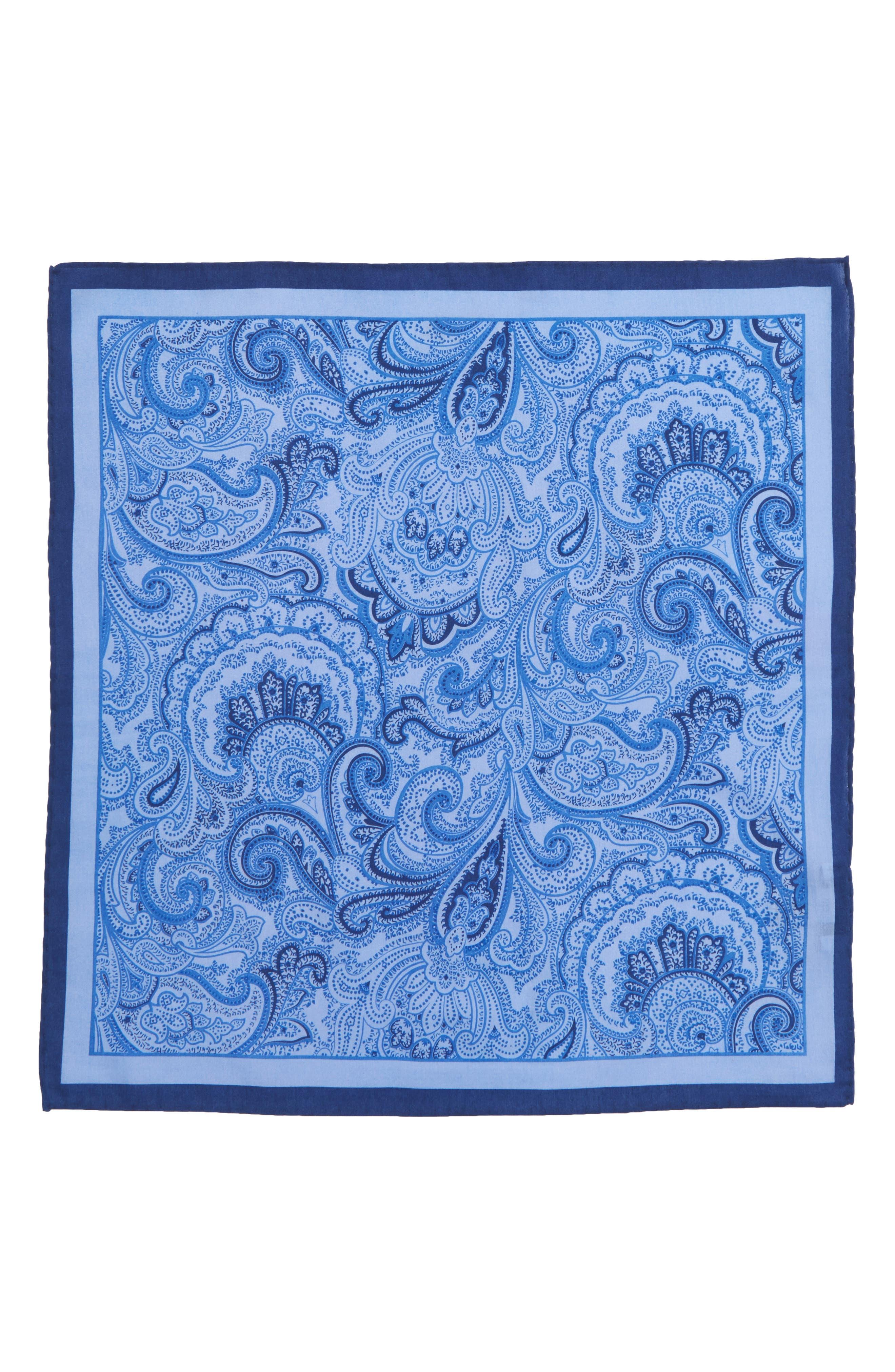 CALIBRATE,                             Paisley Cotton & Silk Pocket Square,                             Alternate thumbnail 2, color,                             467