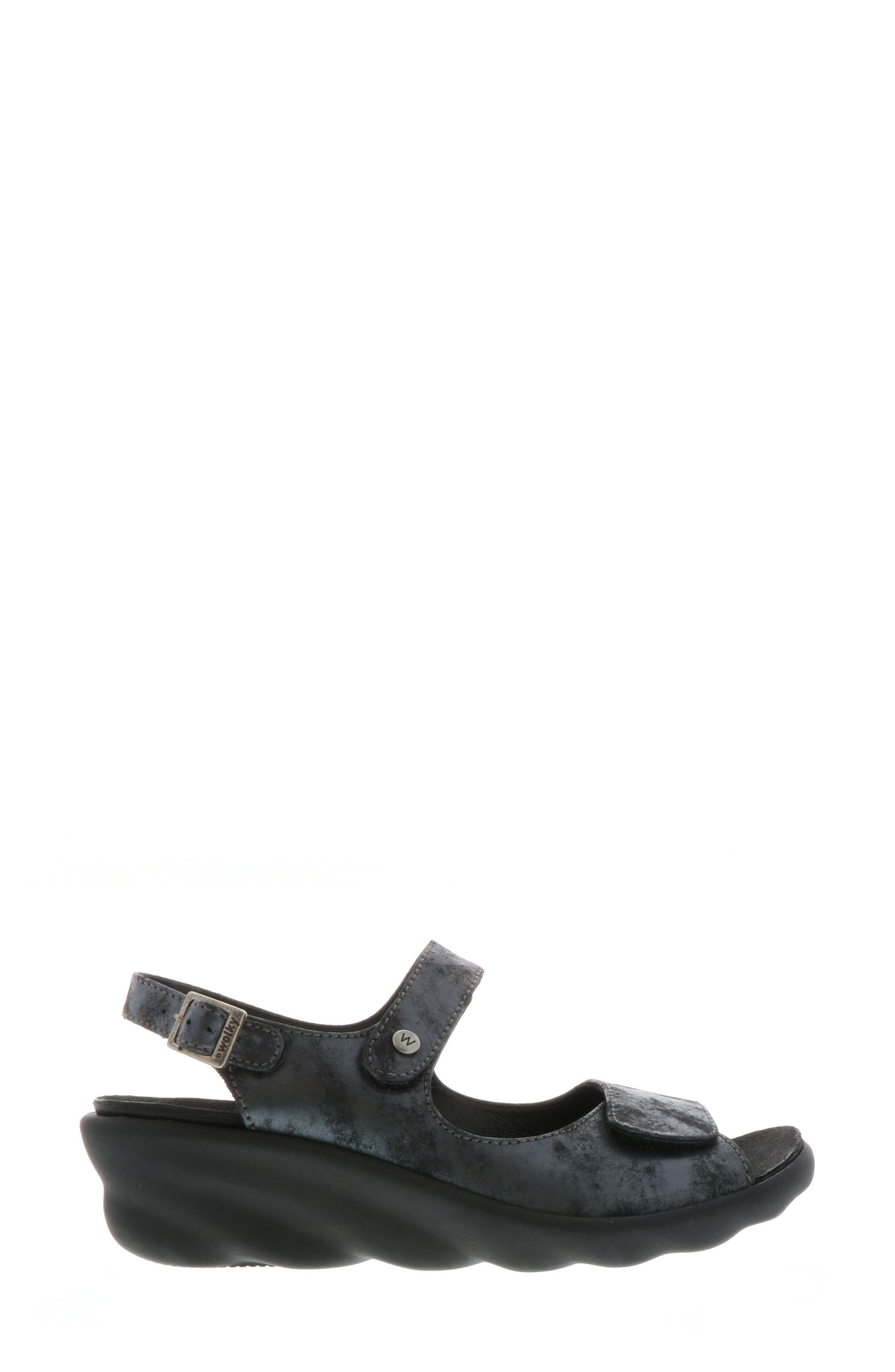 Scala Sandal,                             Alternate thumbnail 3, color,                             BLACK NUBUCK