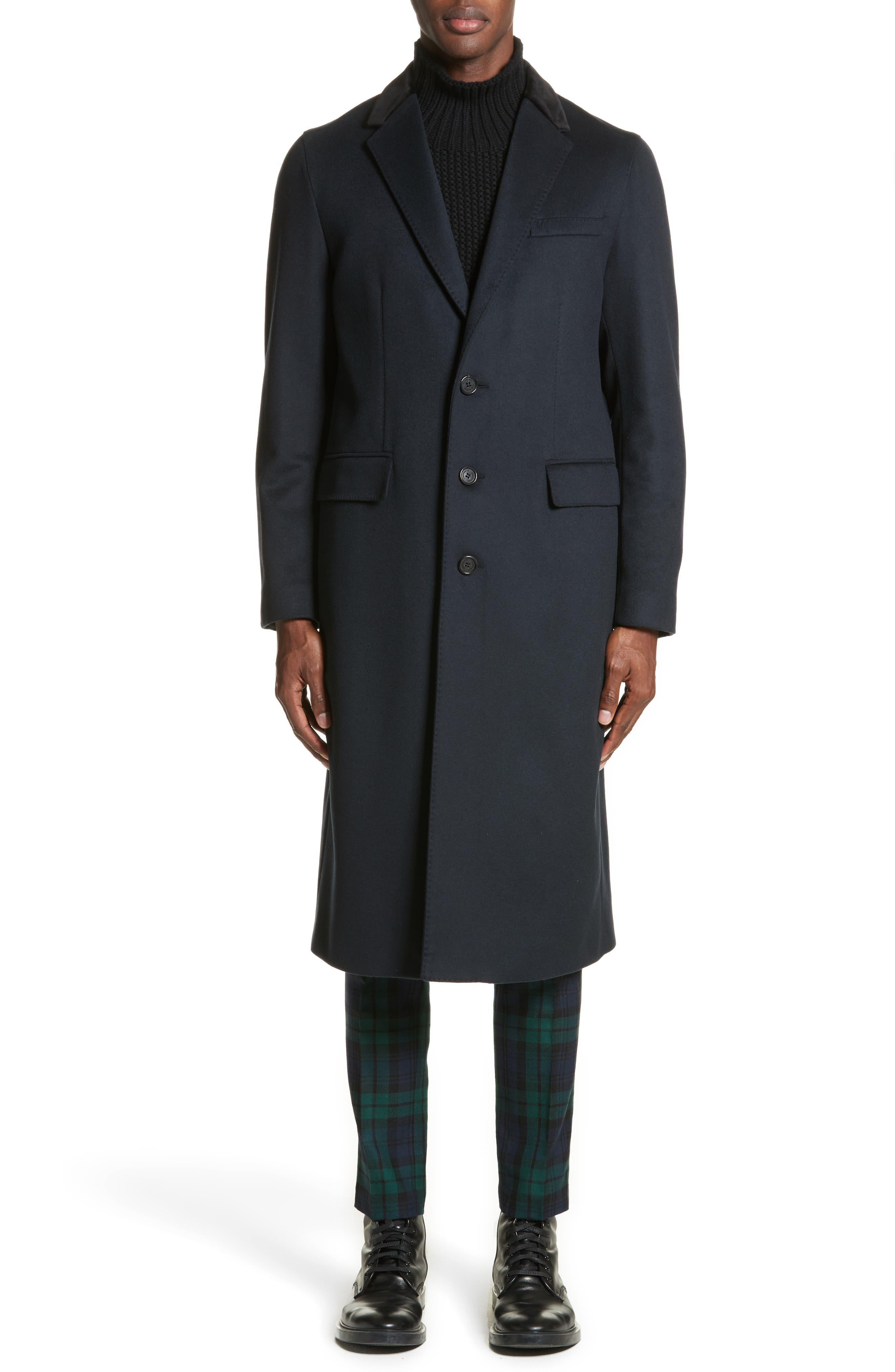 Flynn Wool & Cashmere Topcoat,                             Main thumbnail 1, color,                             410
