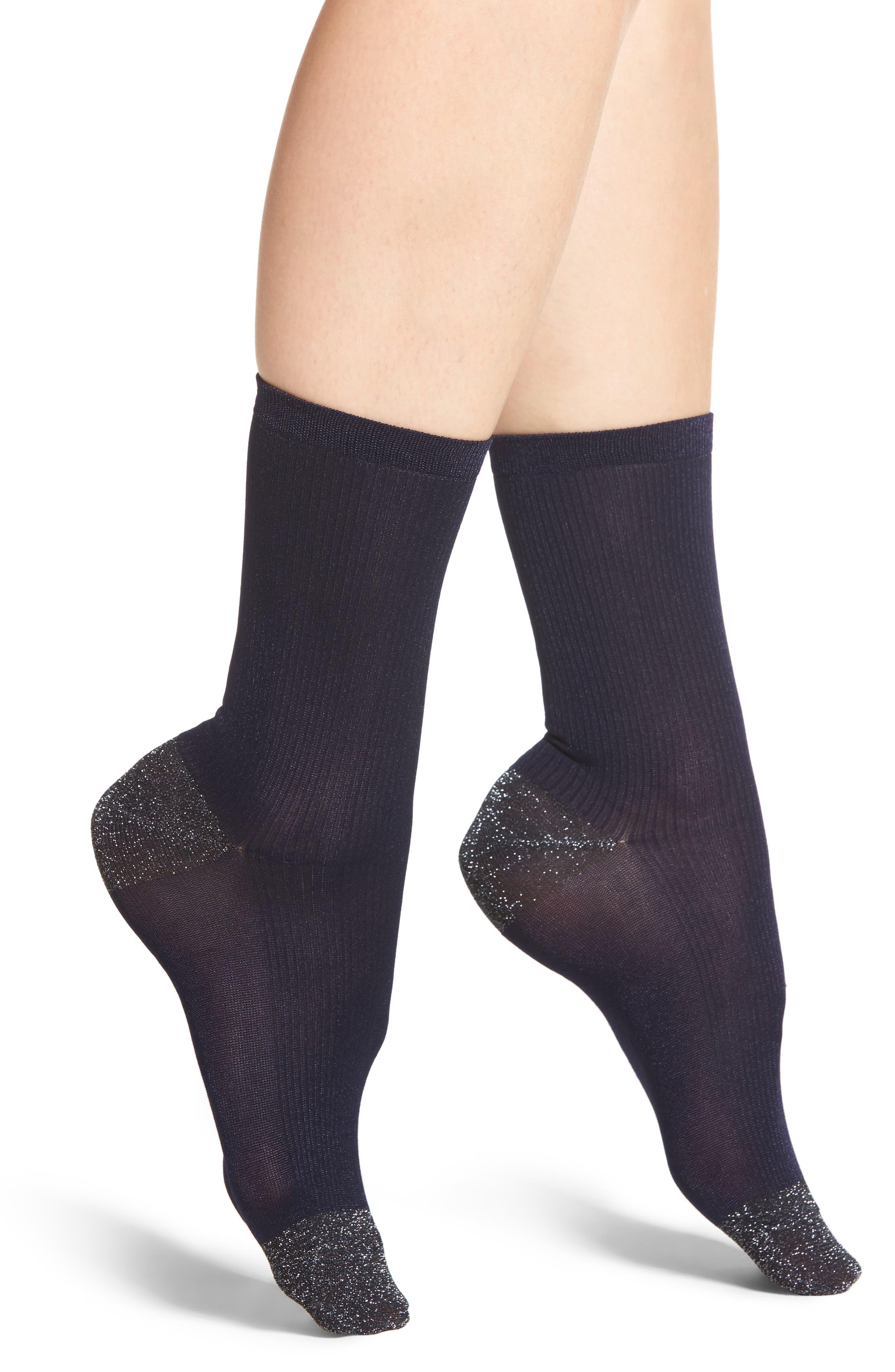 Metallic Trouser Socks,                             Main thumbnail 2, color,