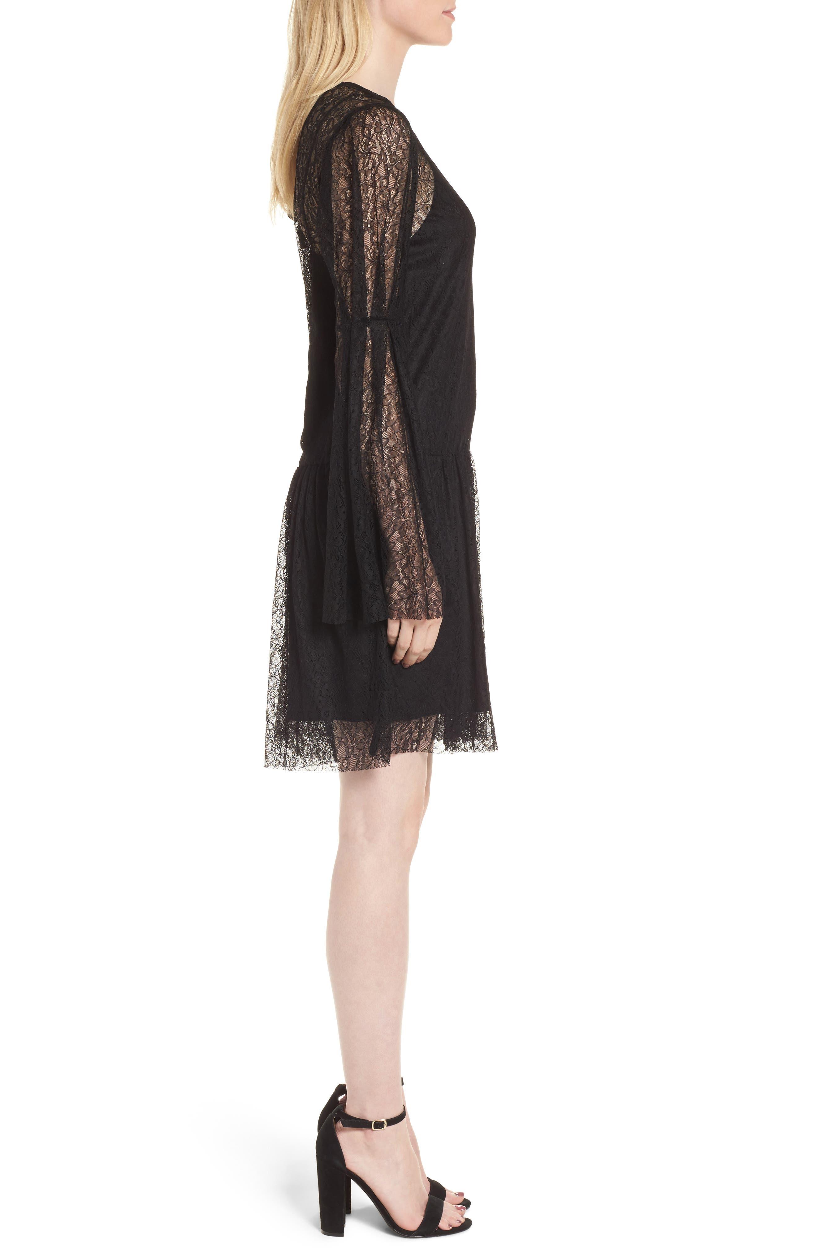 Lace Dress,                             Alternate thumbnail 3, color,                             001