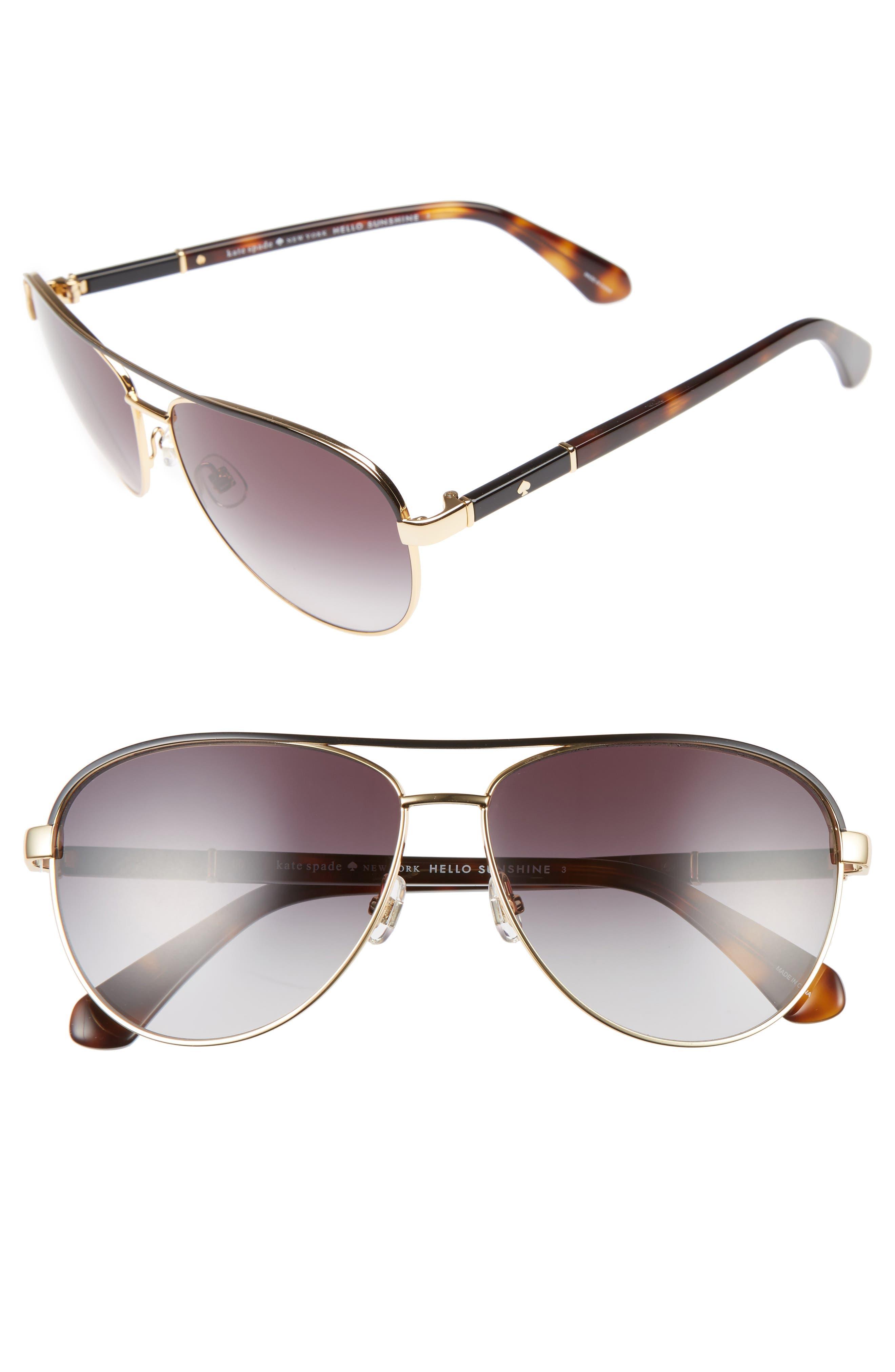 emilyann 59mm aviator sunglasses,                         Main,                         color, 710
