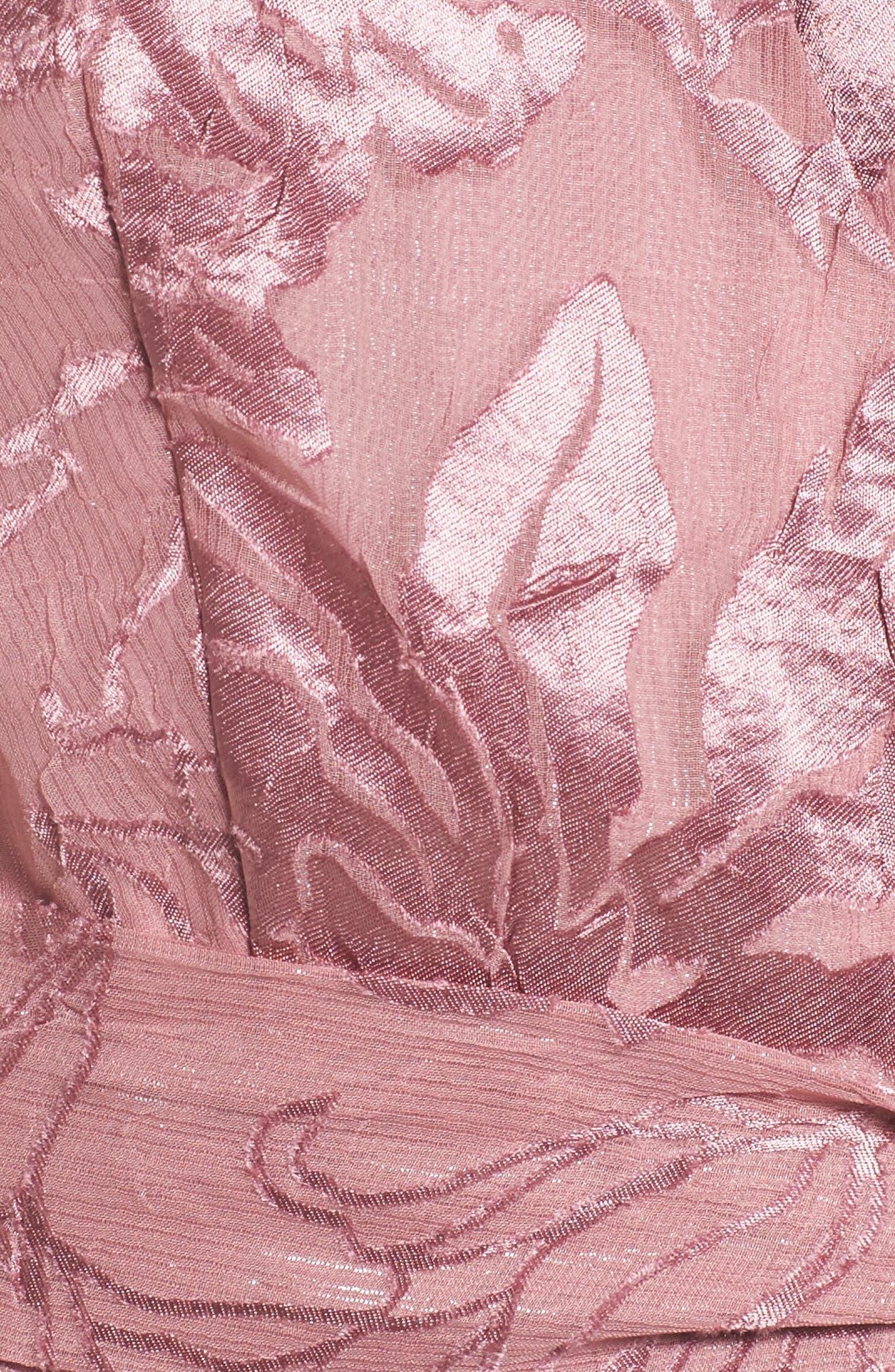 Libra Cold Shoulder Wrap Dress,                             Alternate thumbnail 5, color,