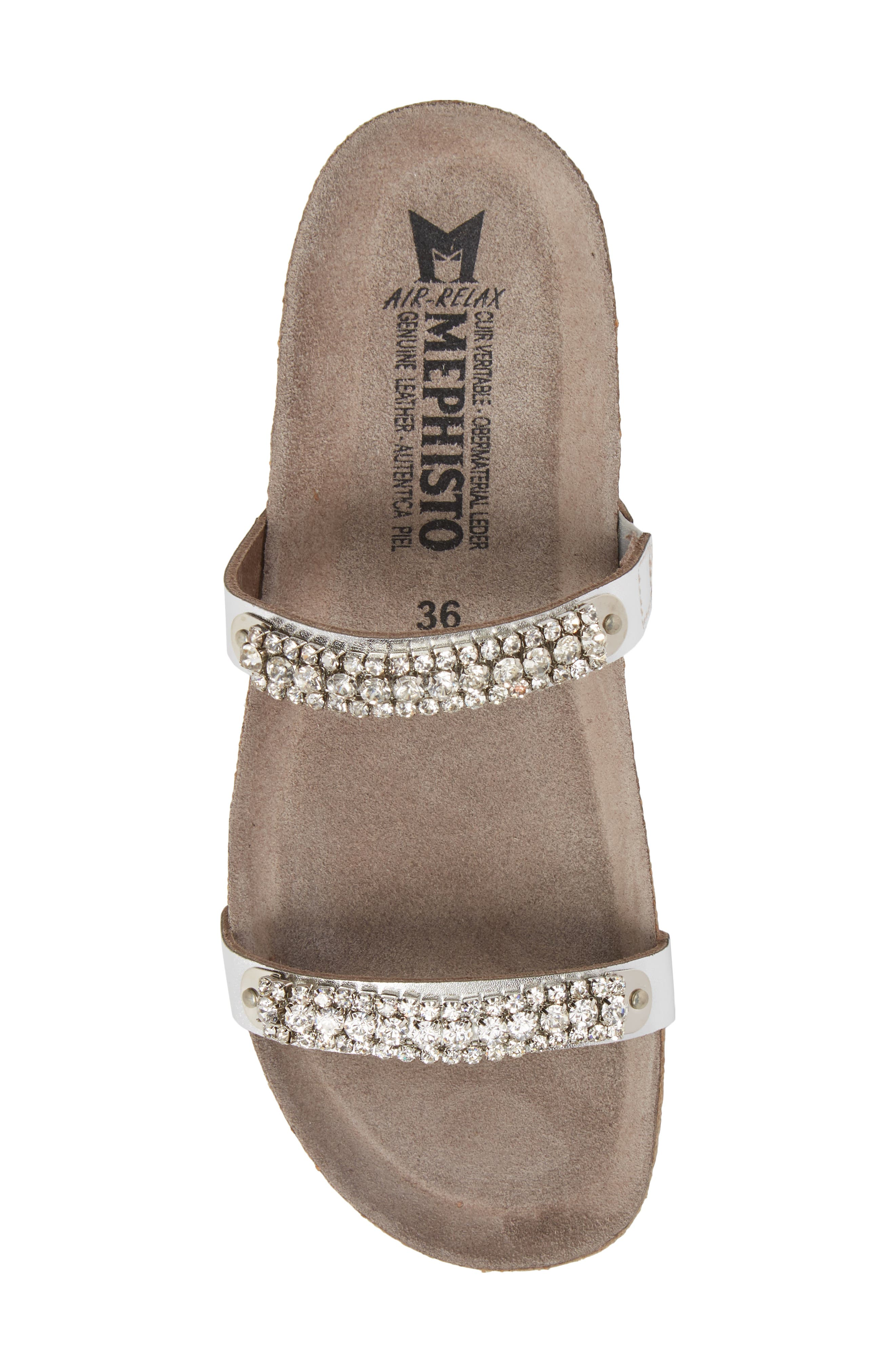 'Ivana' Crystal Embellished Slide Sandal,                             Alternate thumbnail 5, color,                             082