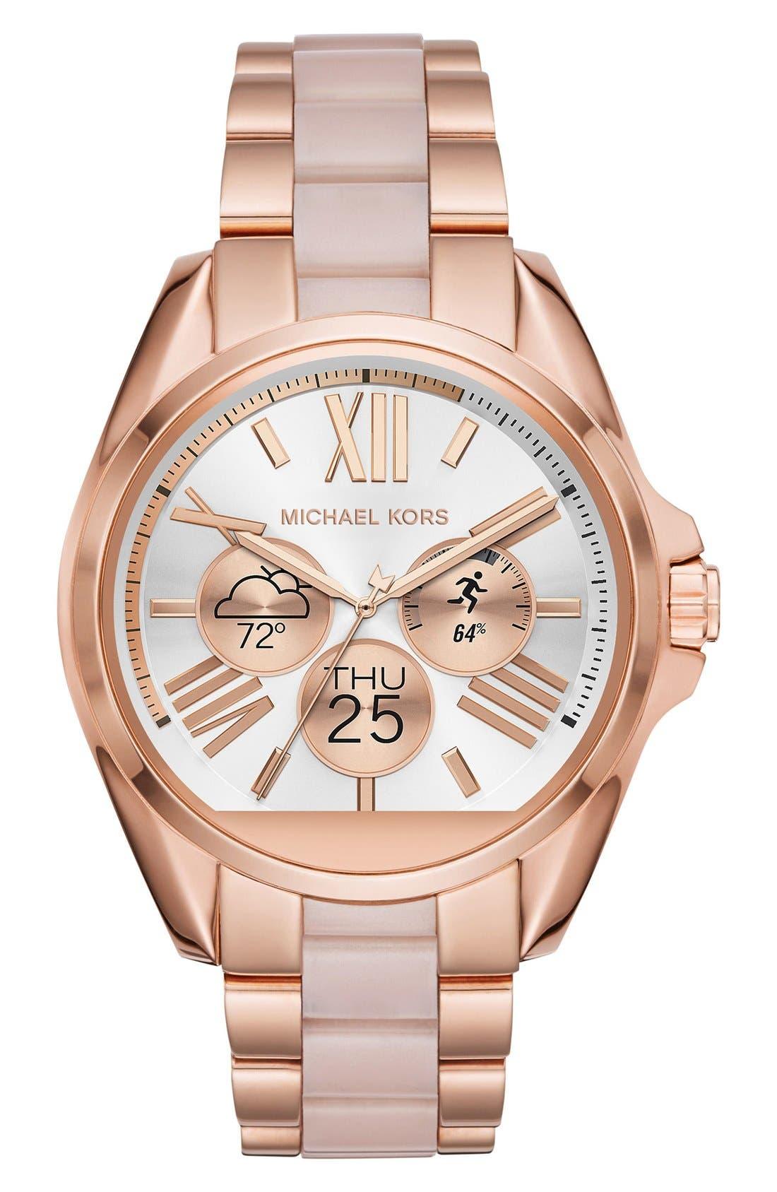 MICHAEL Michael Kors Bradshaw Access Bracelet Smart Watch, 45mm,                             Alternate thumbnail 34, color,