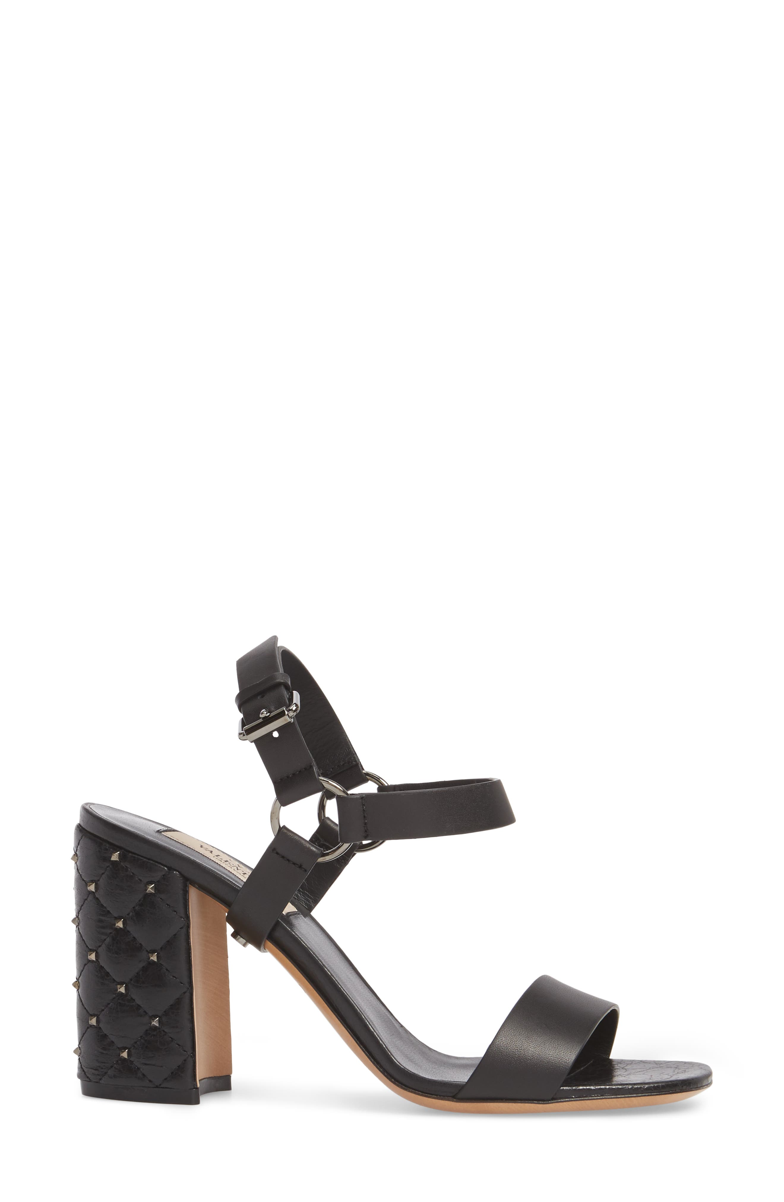 Rockstud Sandal,                             Alternate thumbnail 3, color,                             001