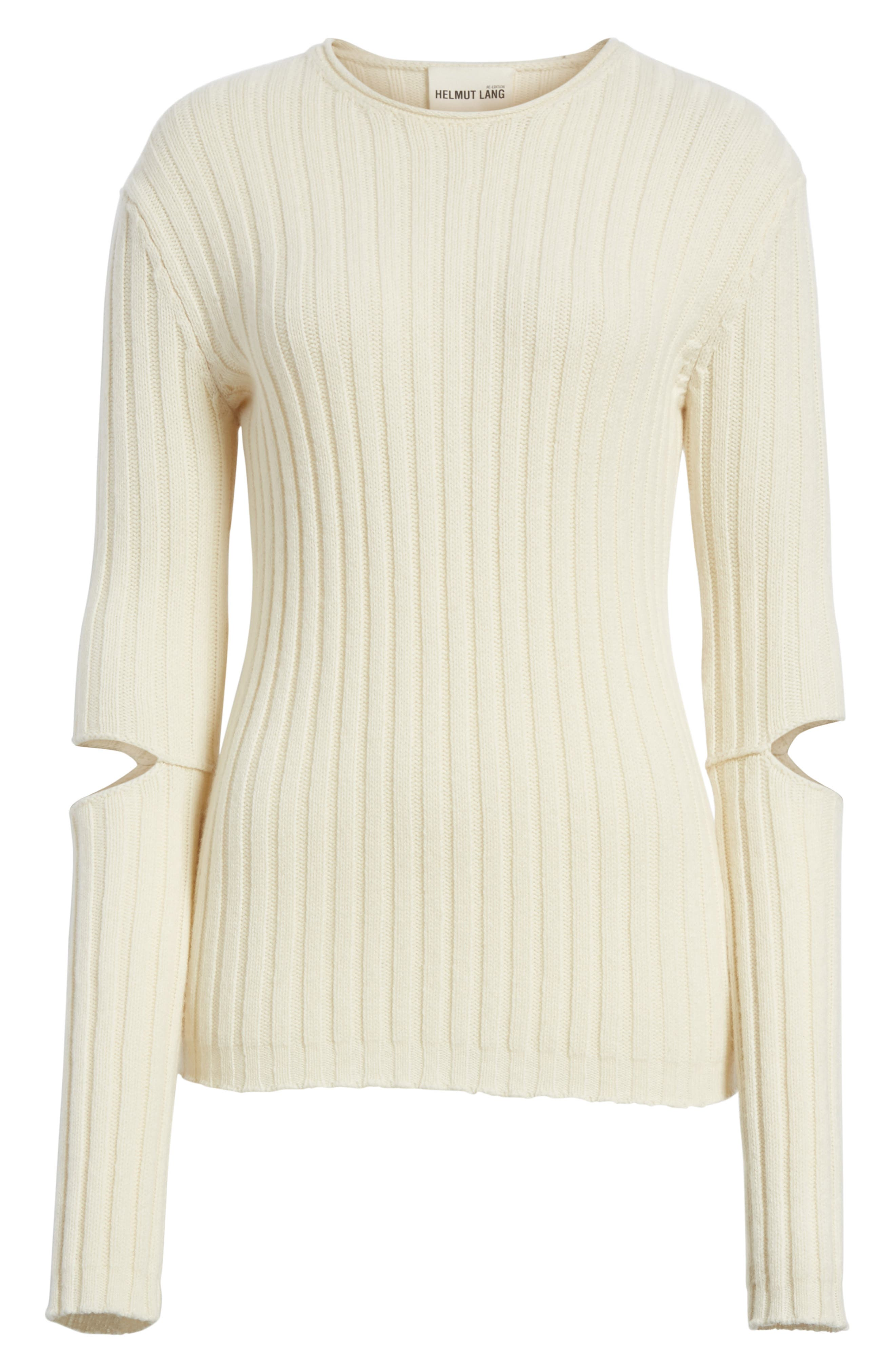 Re-Edition Elbow Cutout Lambswool Sweater,                             Alternate thumbnail 12, color,