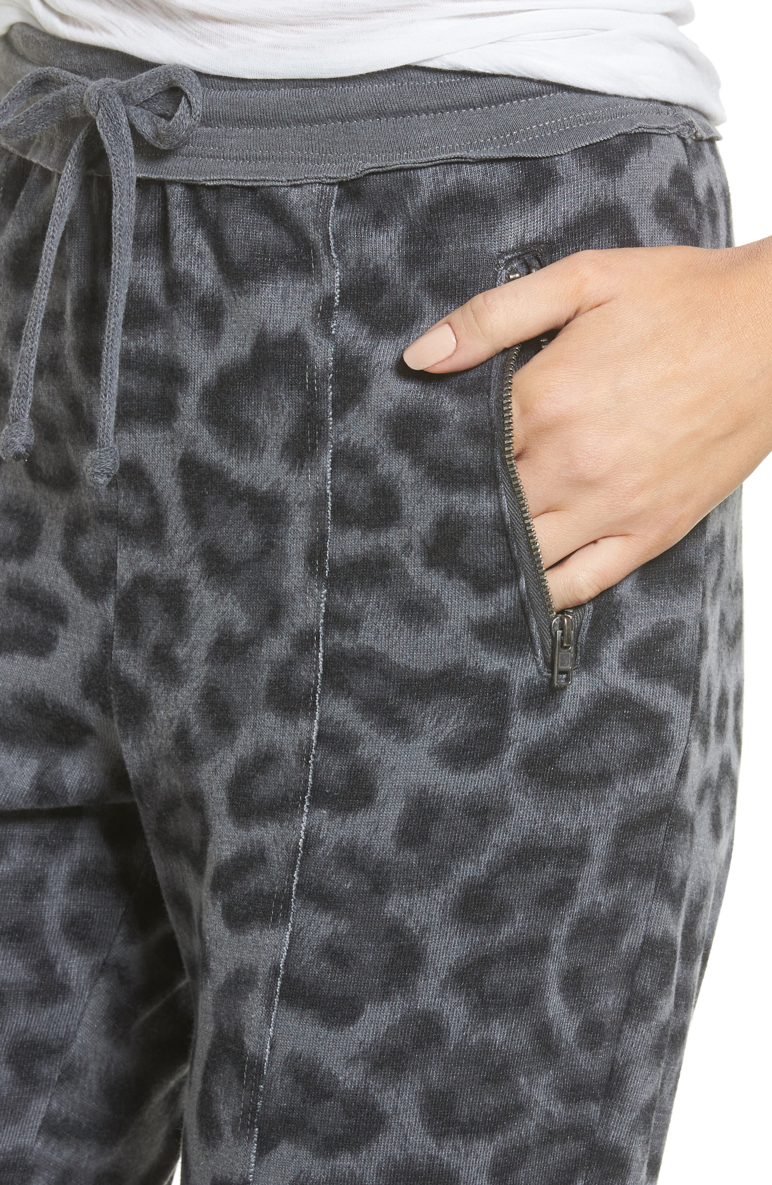Leopard Print Jogger Pants,                             Alternate thumbnail 4, color,                             032