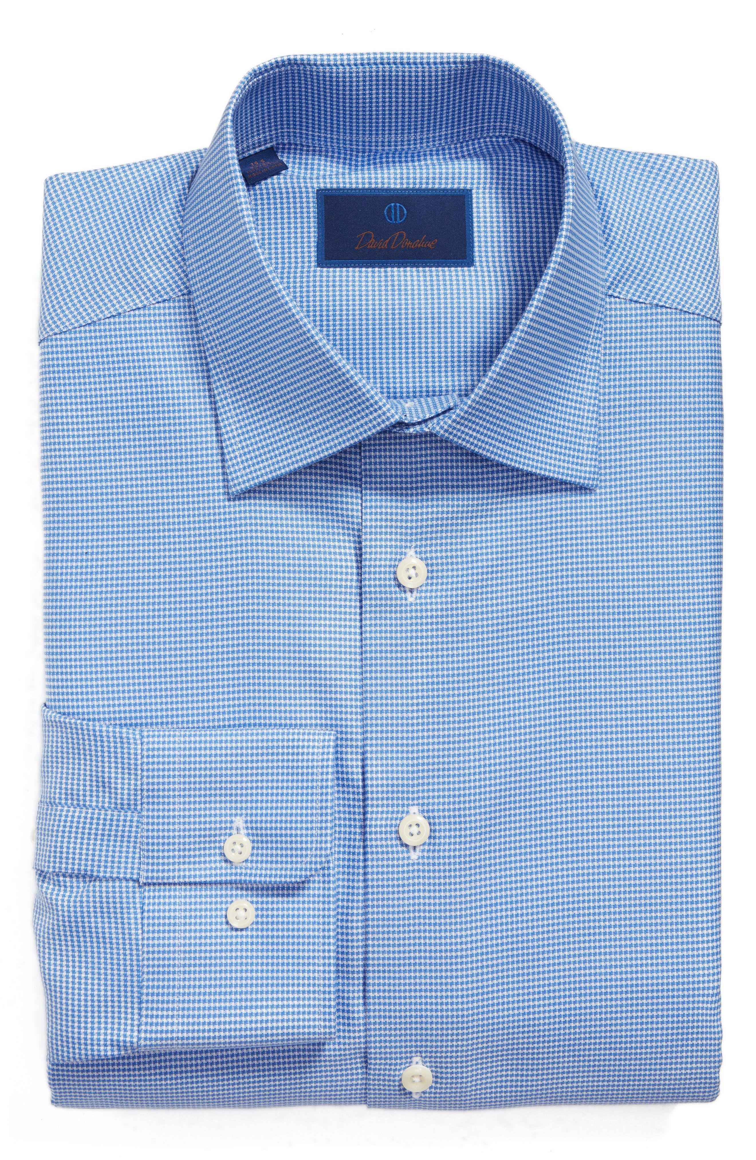 Regular Fit Houndstooth Dress Shirt,                             Alternate thumbnail 3, color,                             423