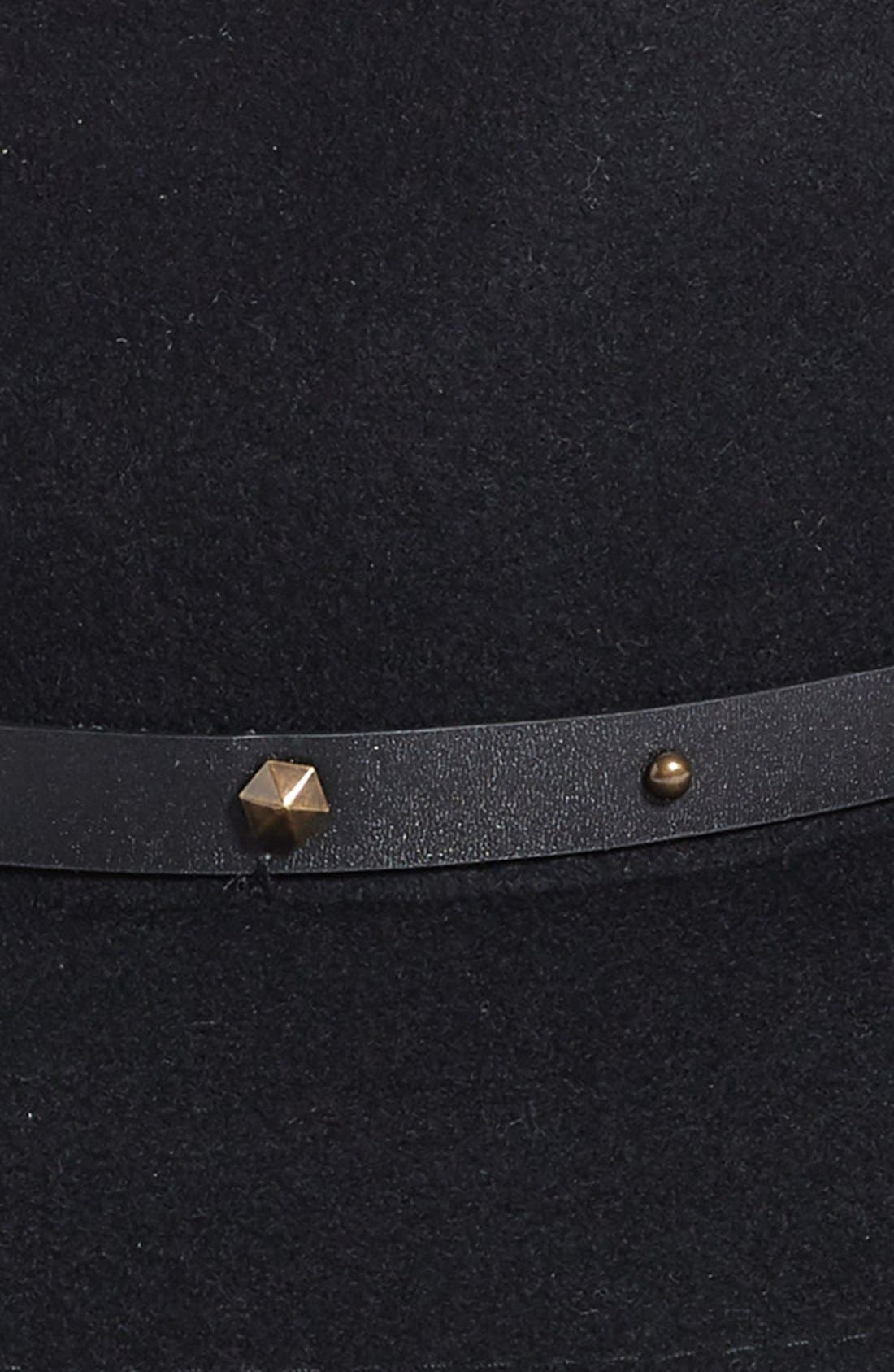 Karli Wool Felt Wide Brim Hat,                             Alternate thumbnail 3, color,