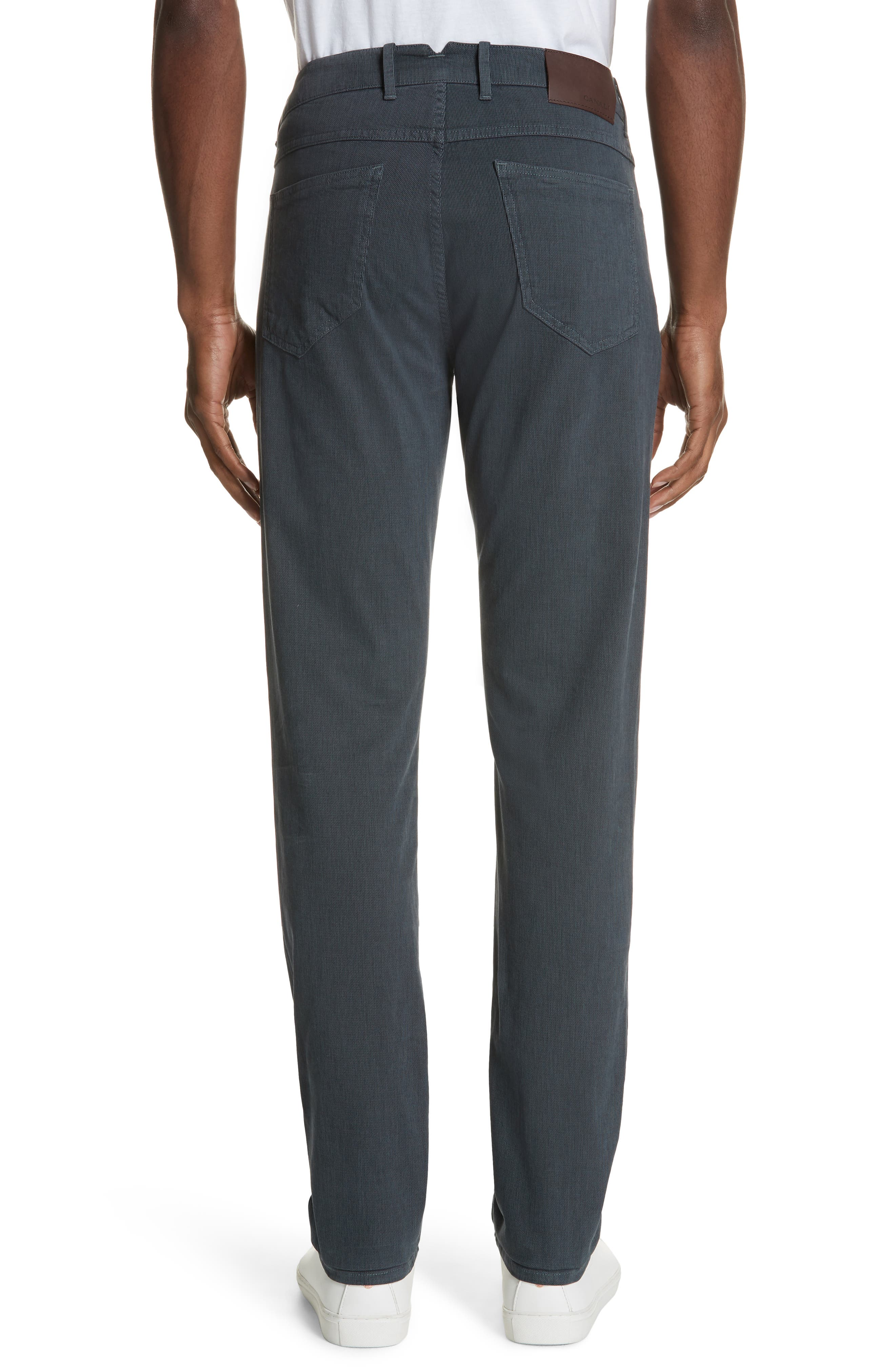 Stretch Cotton Five-Pocket Trousers,                             Alternate thumbnail 2, color,                             GREY