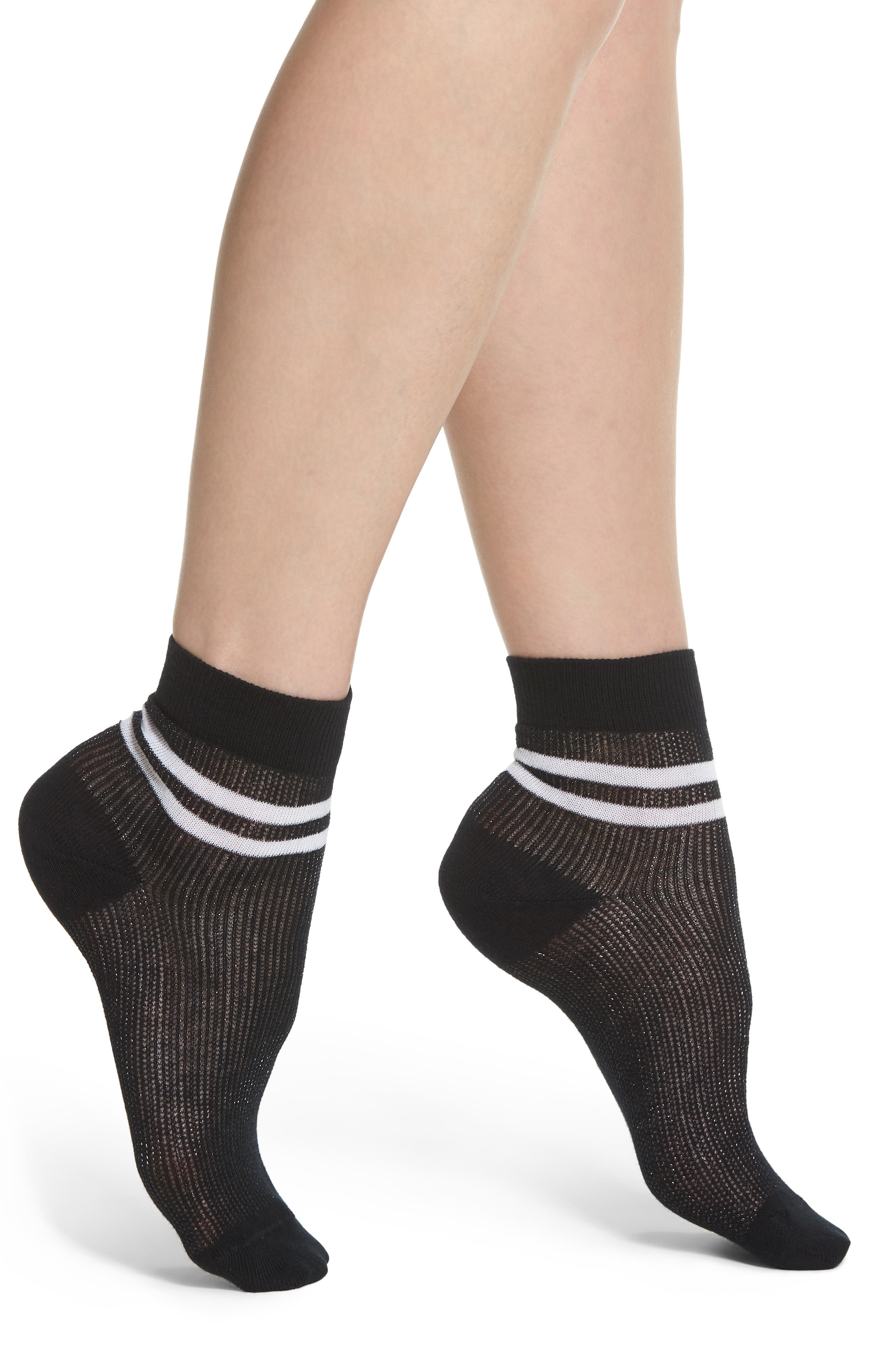 Varsity Ankle Socks,                             Main thumbnail 1, color,                             001