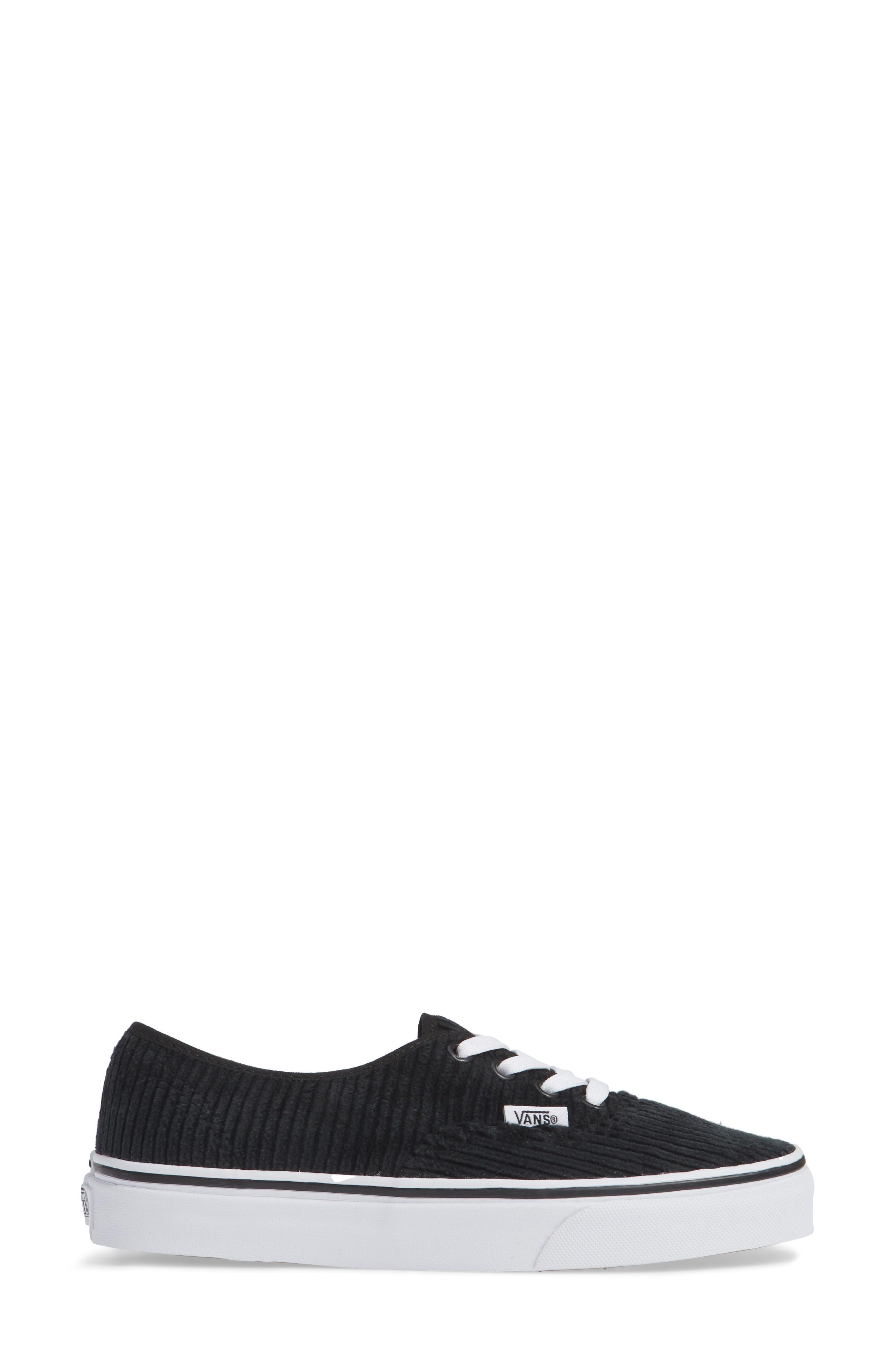 UA Authentic Design Assembly Sneaker,                             Alternate thumbnail 3, color,                             BLACK/ TRUE WHITE