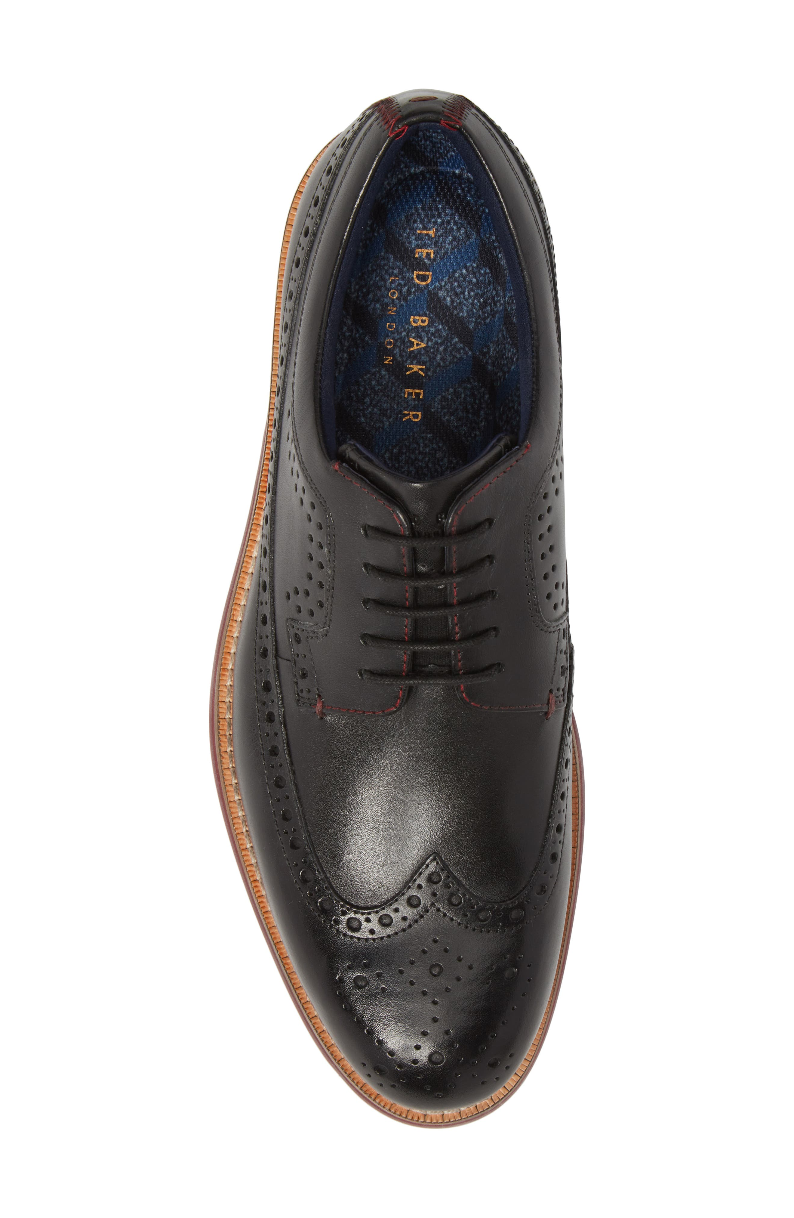 Mition Wingtip Derby,                             Alternate thumbnail 5, color,                             BLACK LEATHER