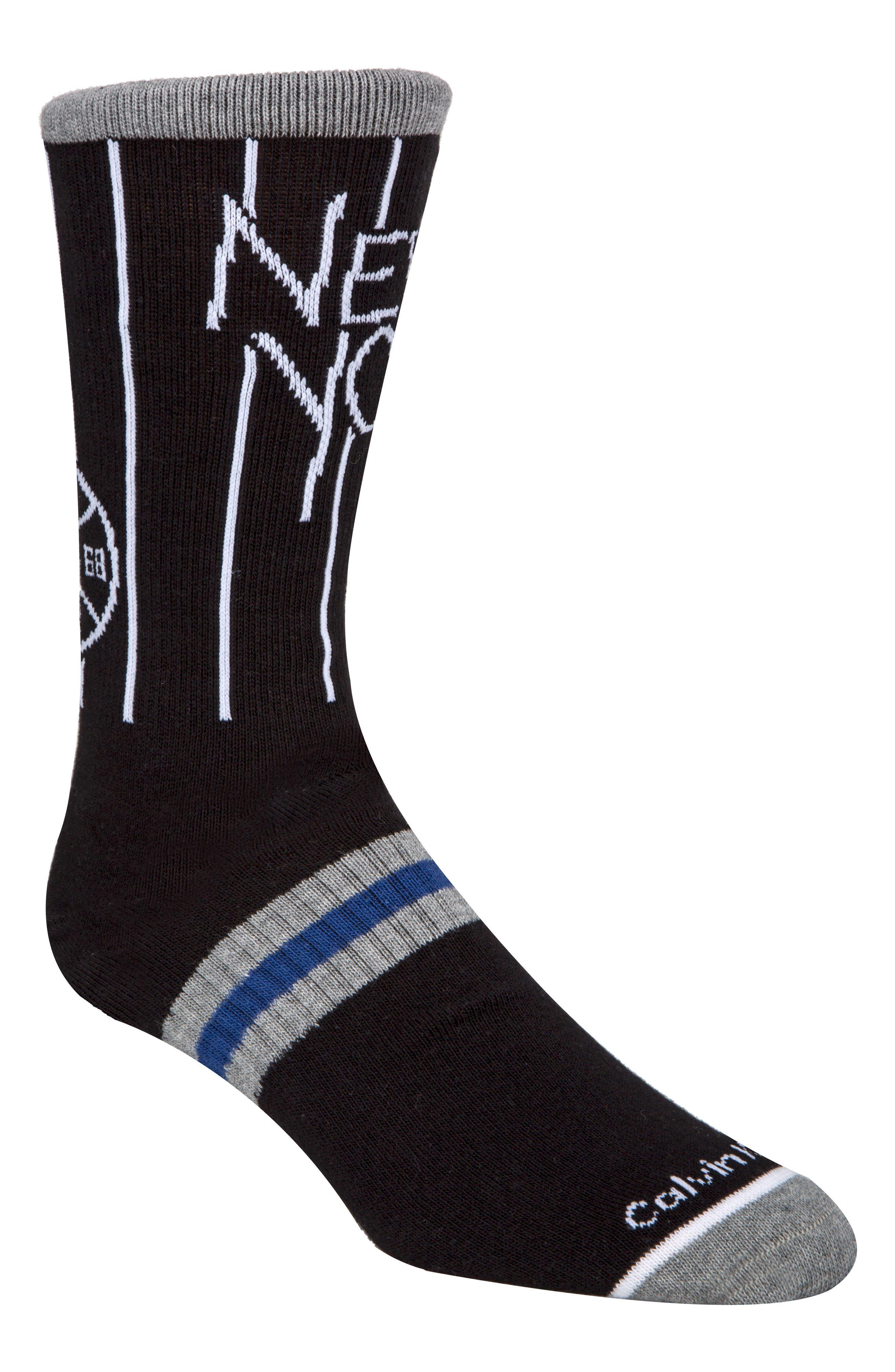 CALVIN KLEIN,                             Team New York Socks,                             Main thumbnail 1, color,                             001