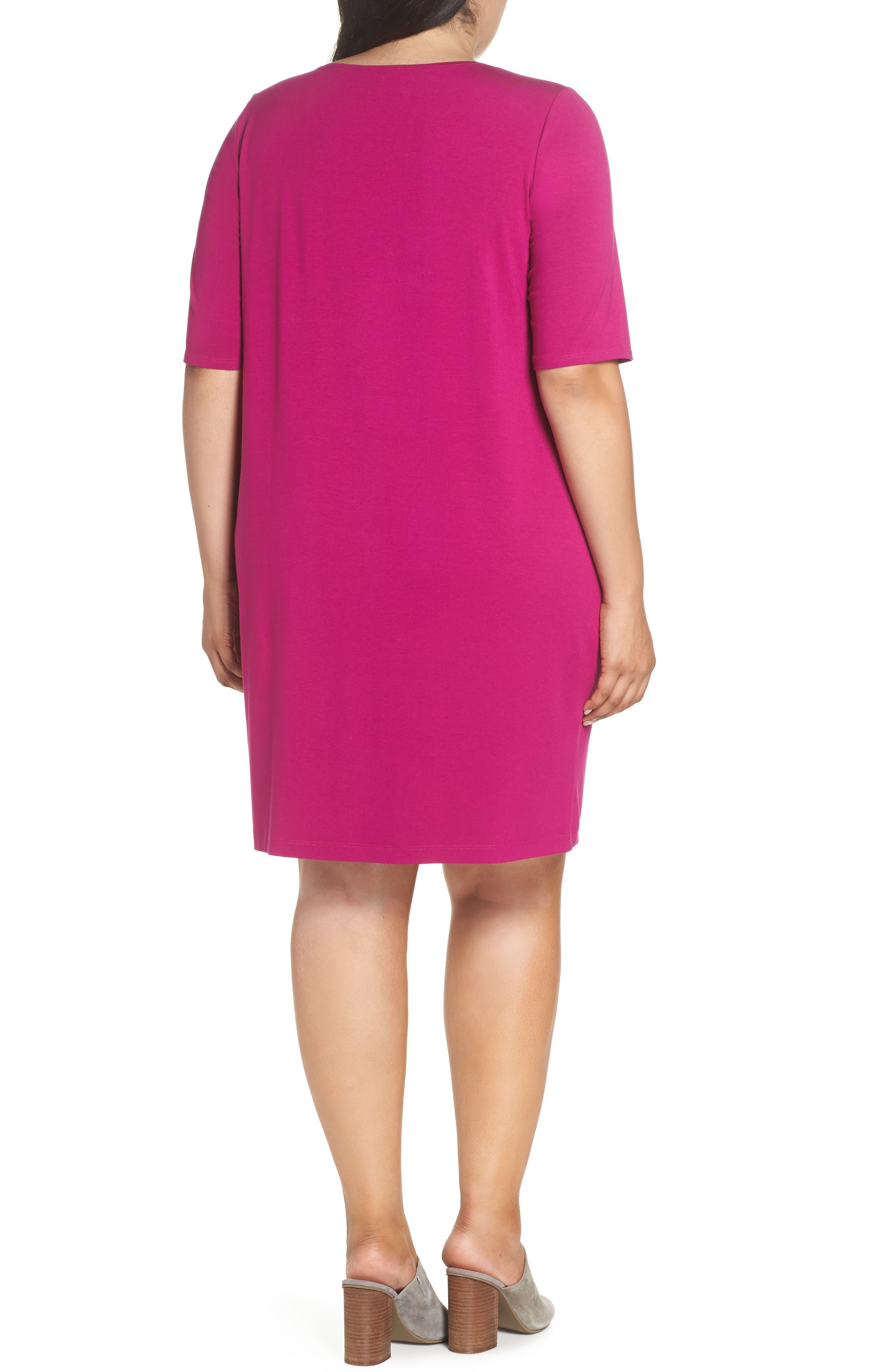 V-Neck Stretch Jersey Shift Dress,                             Alternate thumbnail 11, color,