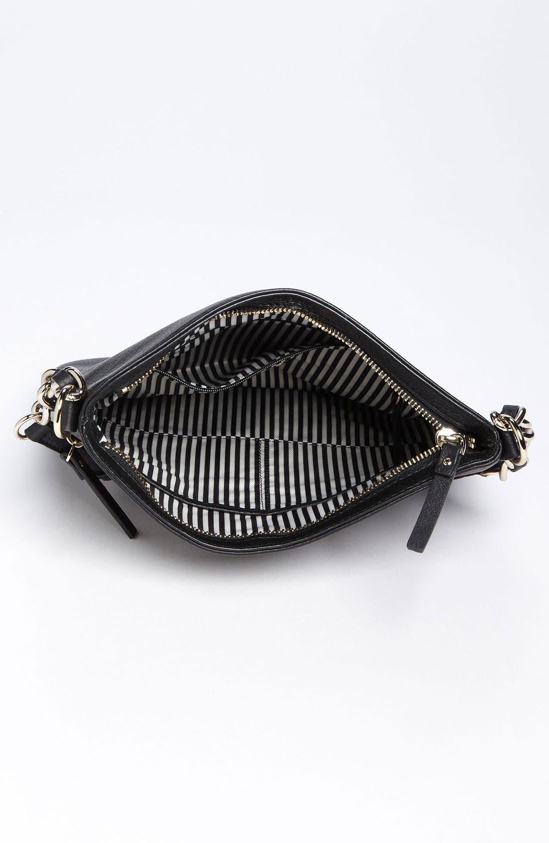 'cobble hill - ellen' leather crossbody bag,                             Alternate thumbnail 7, color,                             001