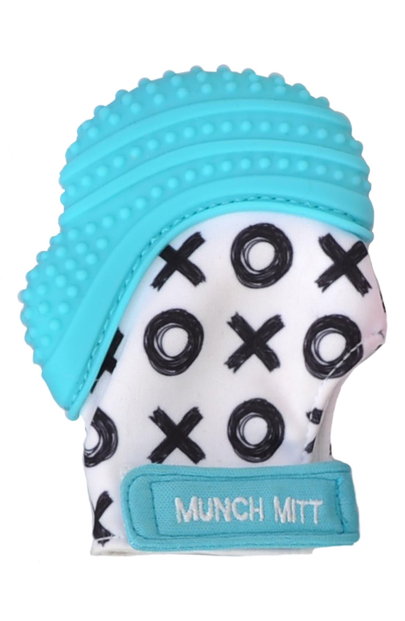 XO Print Teething Mitt,                         Main,                         color, 440