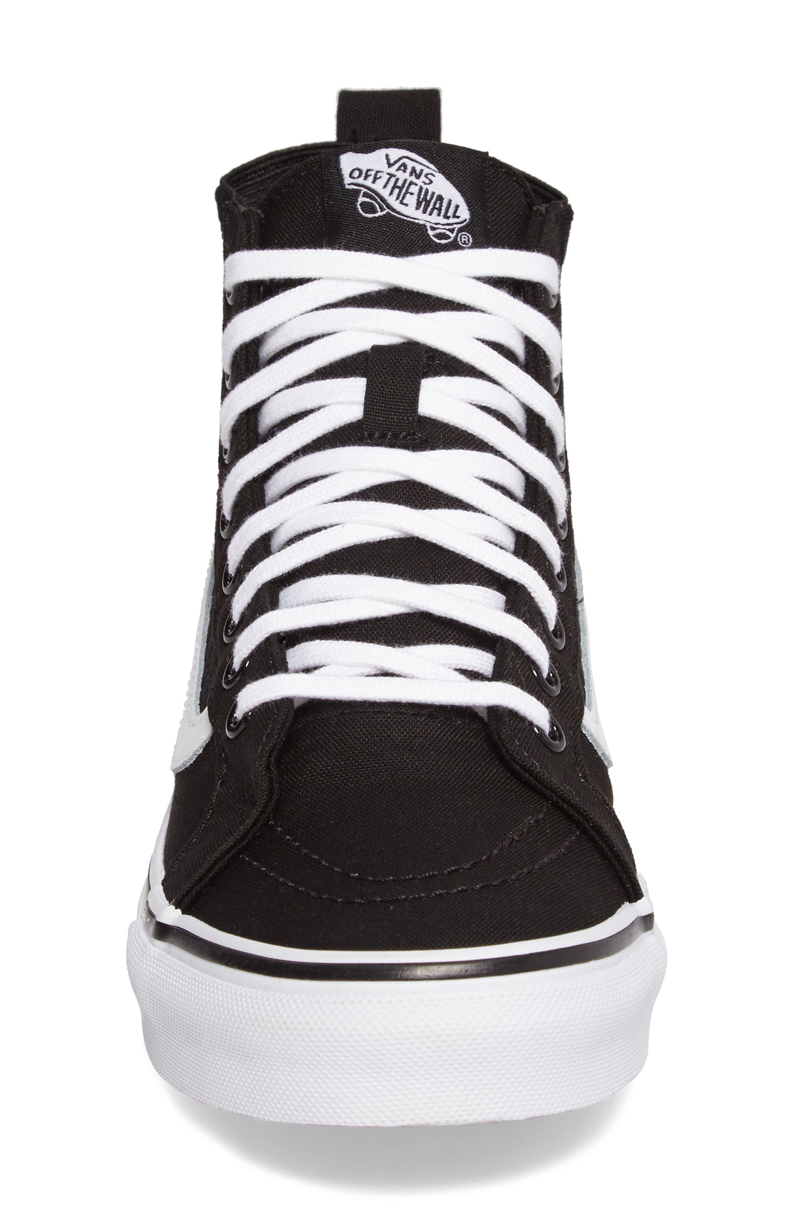 SK8-HI Slim Gore Sneaker,                             Alternate thumbnail 4, color,                             001