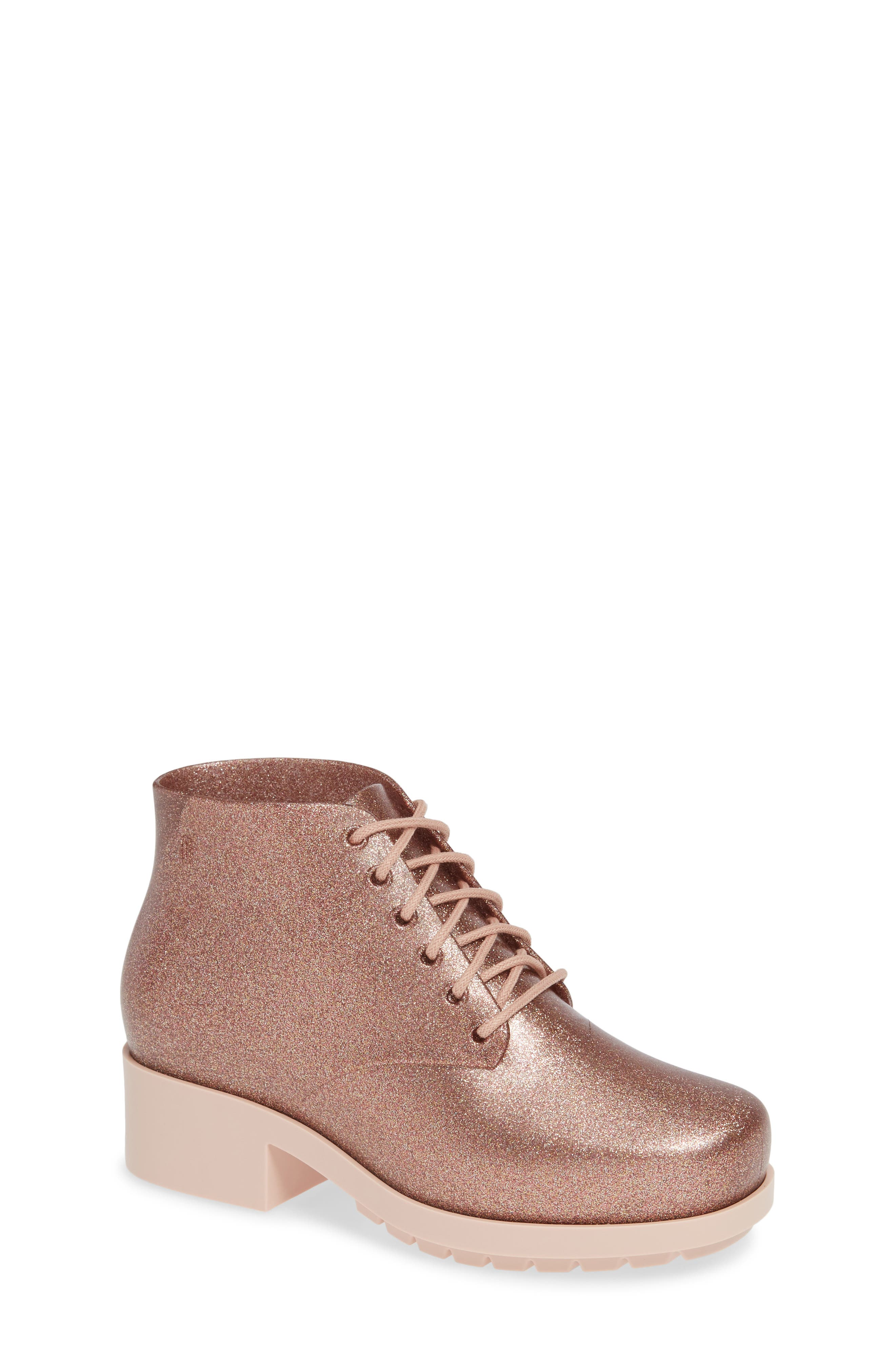 MEL BY MELISSA 'Stella' Boot, Main, color, PINK STARRY