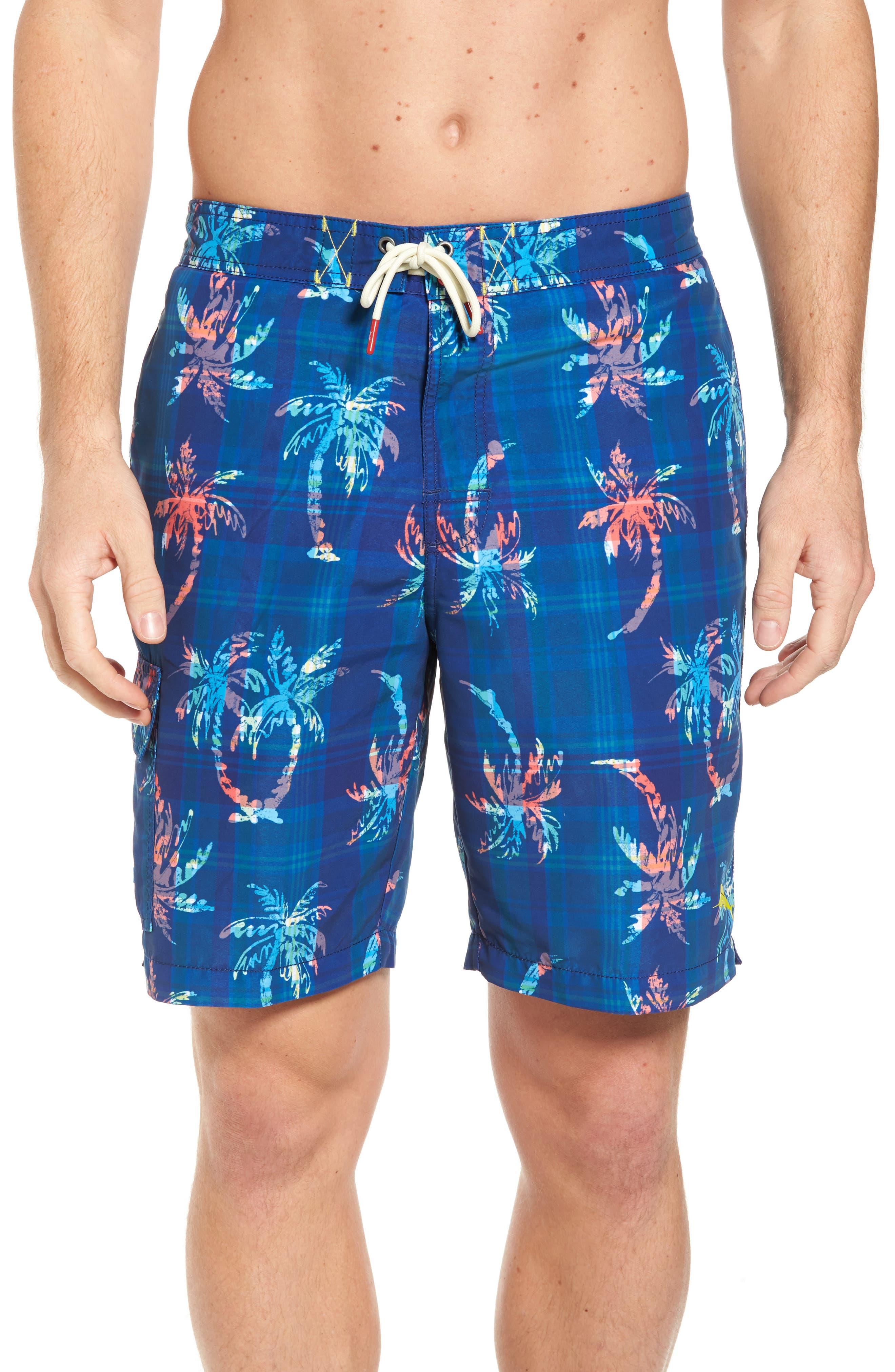 Baja Palm Illusion Swim Trunks,                             Main thumbnail 1, color,                             400